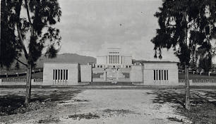 A 1919 photo of the Laie Temple.
