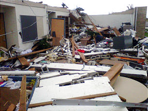 More than 10 Latter-day Saint families lost homes during tornado that destroyed Joplin stake center.