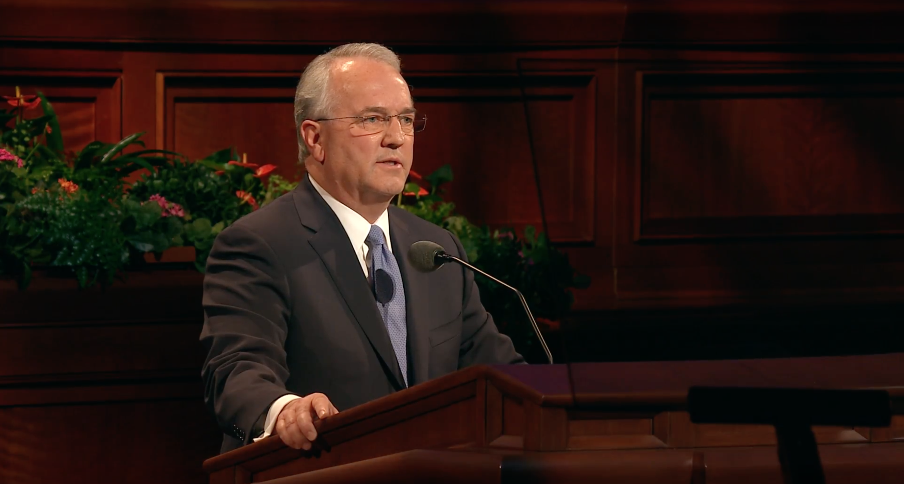 "Elder Jack N. Gerard gives his address, ""Now is the Time,"" during the Sunday afternoon session of October 2018 general conference."