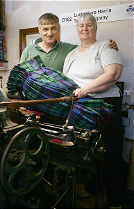 Donald John Mackay and his wife, Maureen, are weavers of Harris Tweed. She joined the Church through Primary.