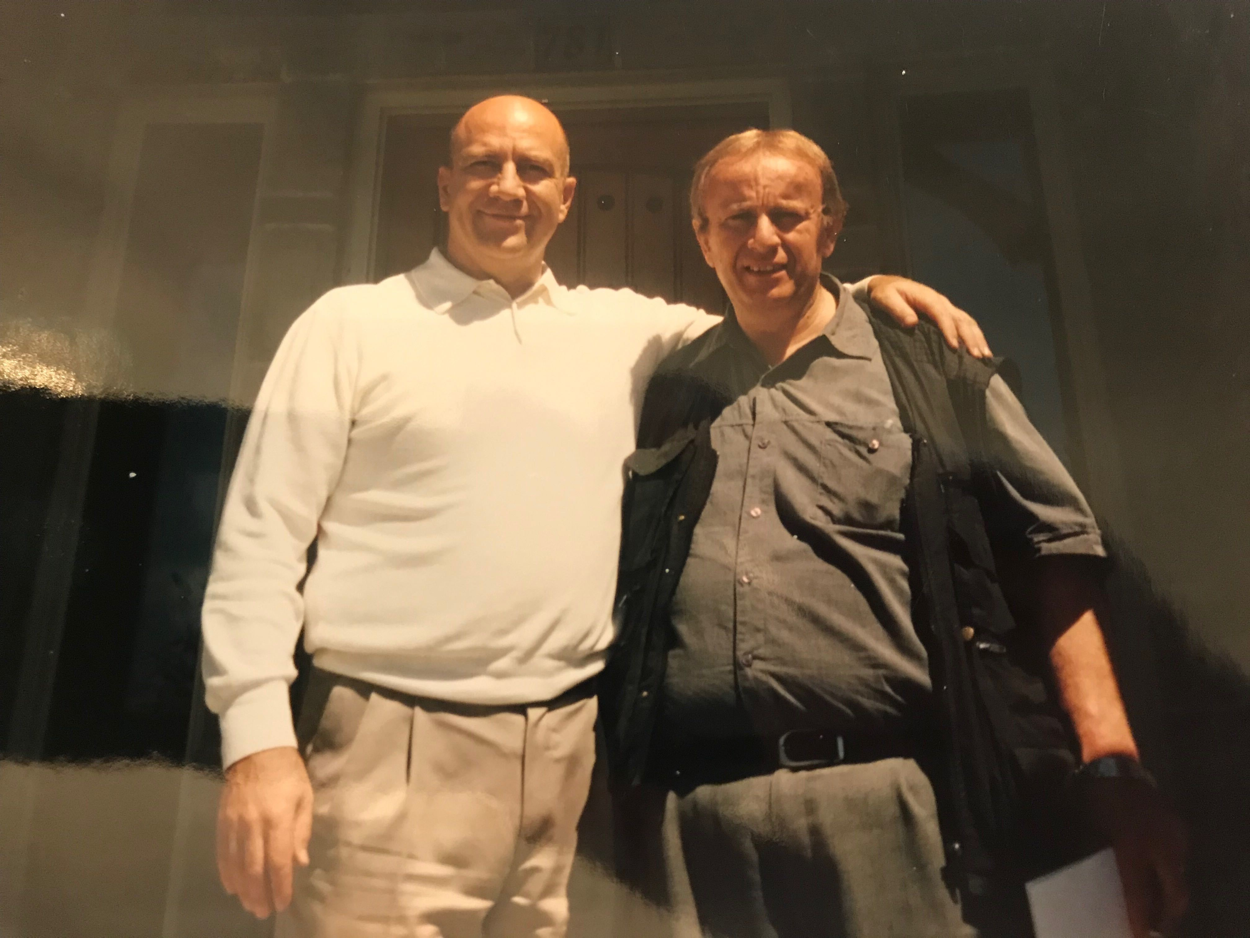Right, Roberto Deni stands with Sharman Smoot, one of the Latter-day Saint missionaries who taught and baptized Deni in Italy in the 1970s.