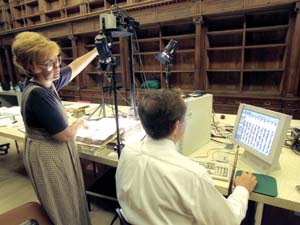 Working in collaboration with the Vatican Library, BYU scholars image more than 14,000 pages of text to produce a digital library of 33 Syriac Christian manuscripts.