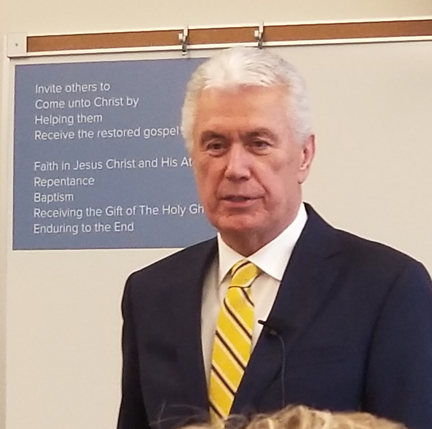 Elder Dieter F. Uchtdorf, a member of the Quorum of the Twelve Apostles and chairman of the Church's Missionary Executive Council, speaks at the 2019 MTC Leadership Seminar on Jan. 15 at the Provo Missionary Training Center.