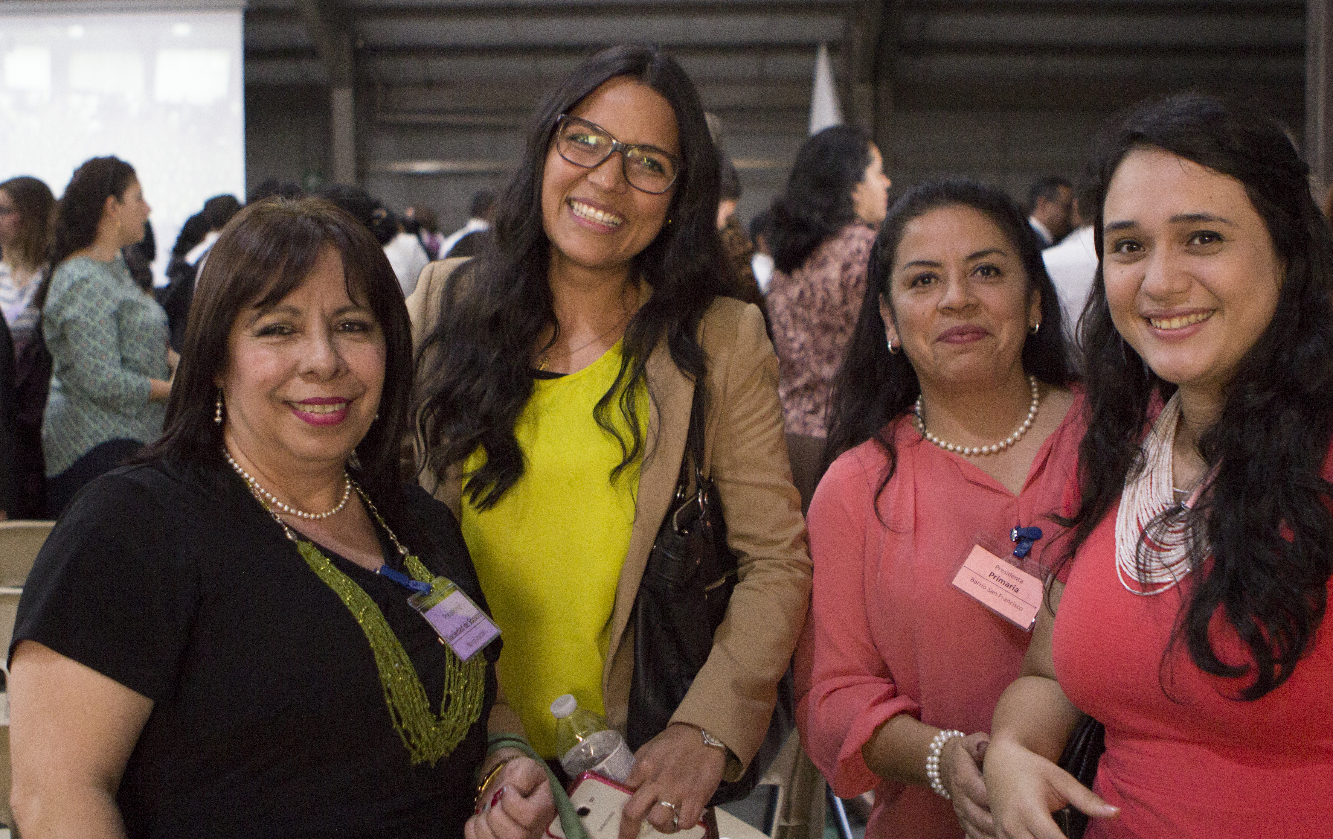 Four Church members on Saturday, February 16 at the leadership conference held in Guatemala City.