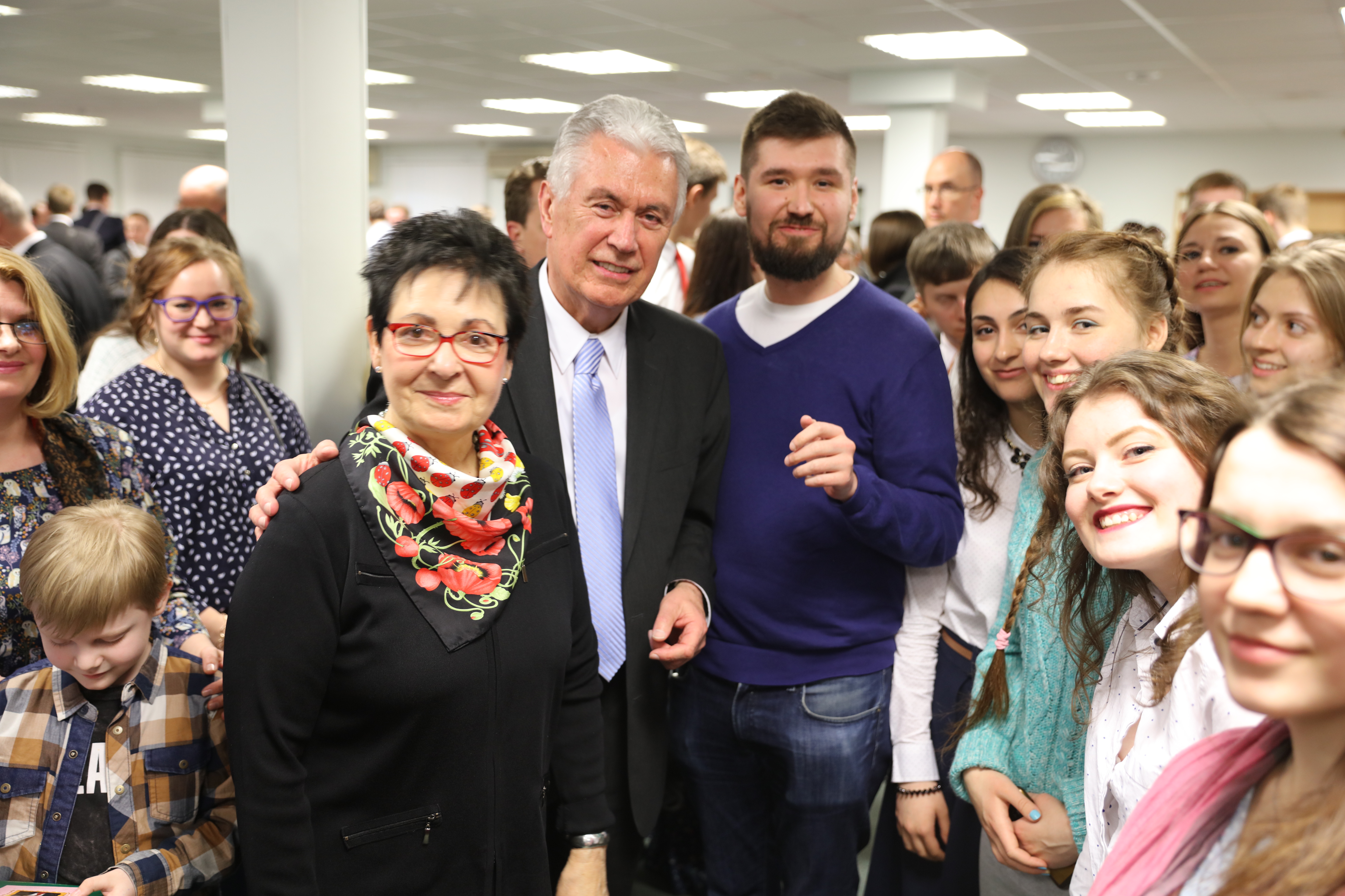 Elder Dieter F. Uchtdorf of the Quorum of the Twelve Apostles and his wife, Sister Harriet Uchtdorf, pause after meeting with young single adults in Moscow, Russia, on April 24, 2018.