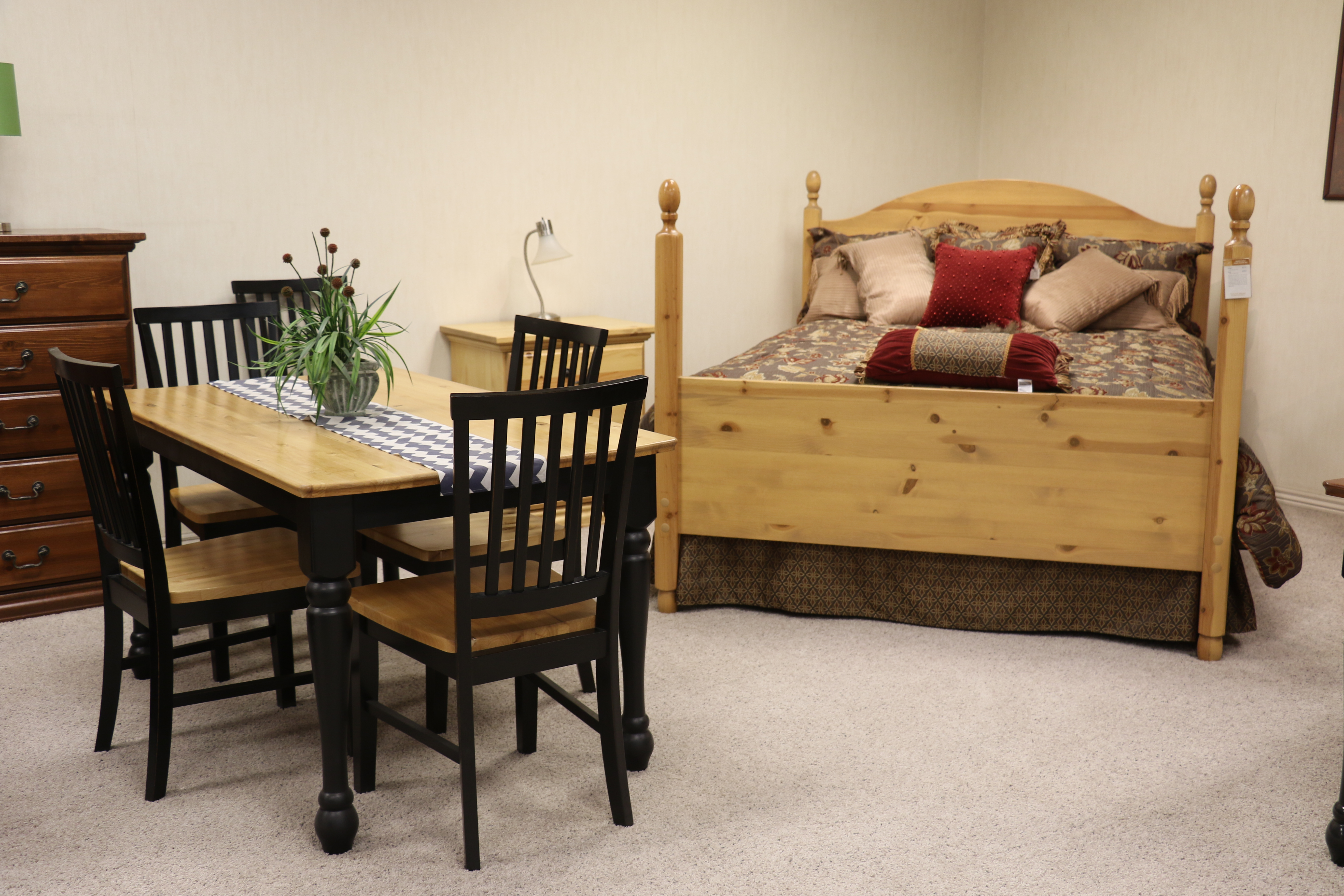 Furniture made at the Deseret Manufacturing facility in Salt Lake City is on display in a showroom and is available to purchase through the Deseret Industries.