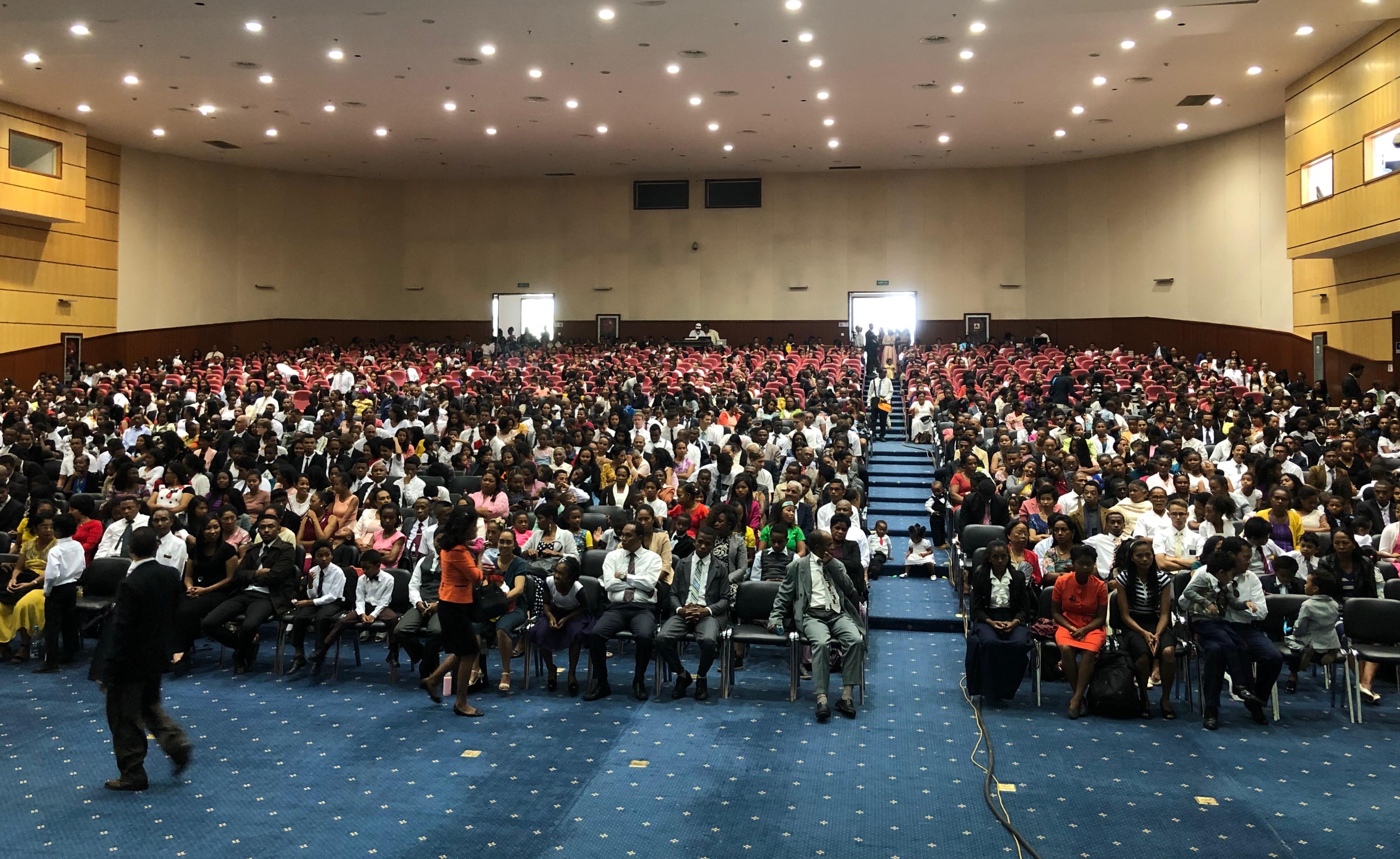 Elder Gary E. Stevenson addresses members in Madagascar in the Church's Africa Southeast Area Feb. 14 through Feb. 25.