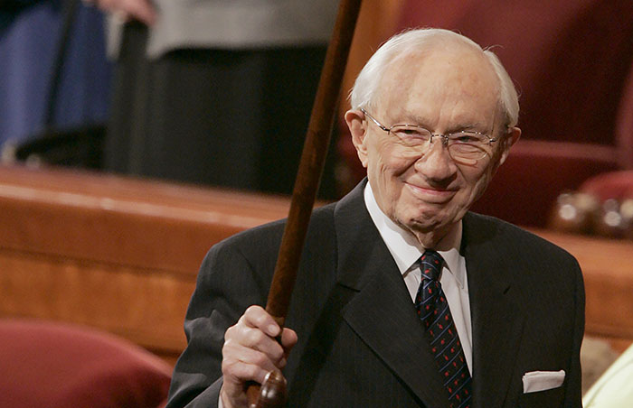 President Gordon B. Hinckley was president of The Church of Jesus Christ of Latter-day Saints from 1995 to 2008.