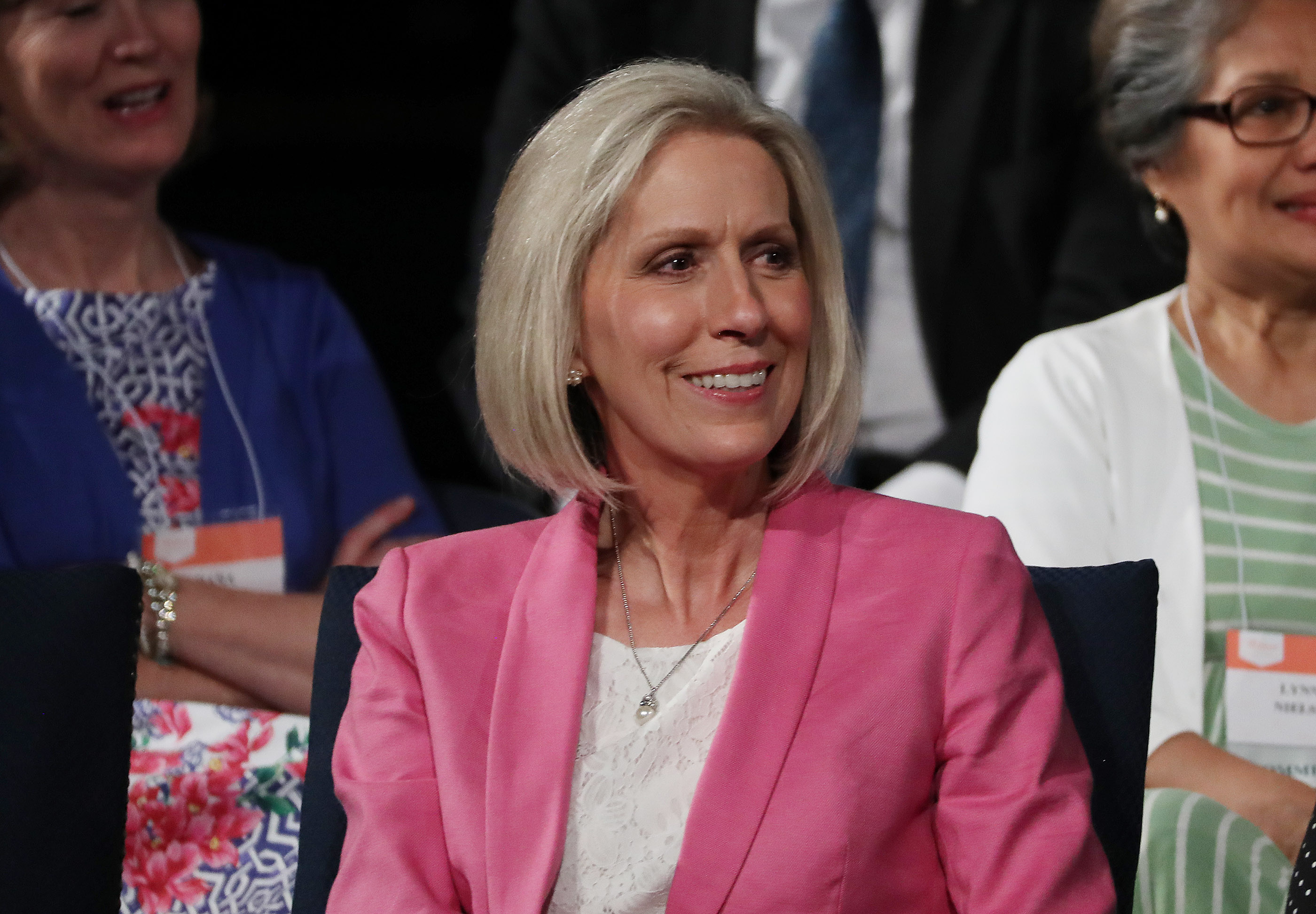 Sister Joy D. Jones, Primary general president of The Church of Jesus Christ of Latter-day Saints, attends BYU Women's Conference in Provo on Friday, May 3, 2019.