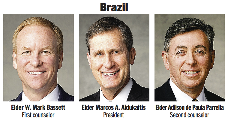 Brazil Area presidency: Elder Marcos A. Aidukaitis, Elder W. Mark Bassett and Elder Adilson de Paula Parrella.