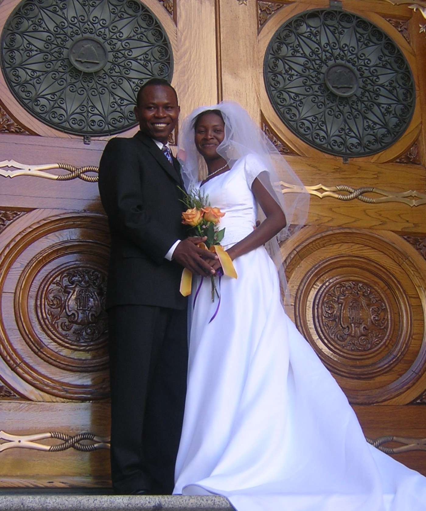 Jony and Annia St. Louis visit Salt Lake City, Utah from Haiti in 2005 to be sealed in the Salt Lake Temple. Annia died after injuries sustained from the earthquake in Haiti in Jan. 210. Photos courtesy of Charlotte Pratt. Tuesday, Jan.19, 2010.