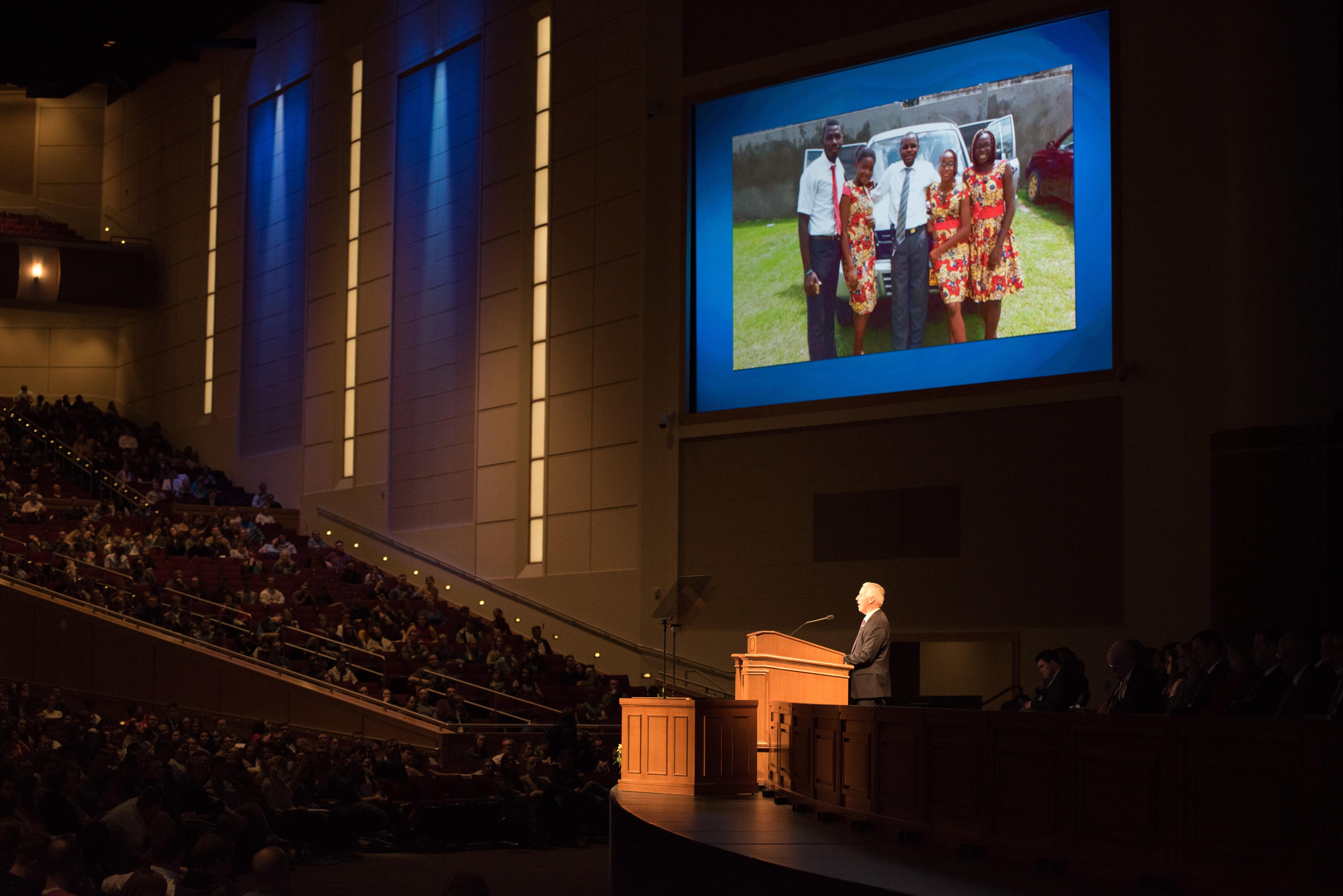 Elder Kevin S. Hamilton, General Authority Seventy, speaks at a BYU-Idaho devotional on March 12, 2019.