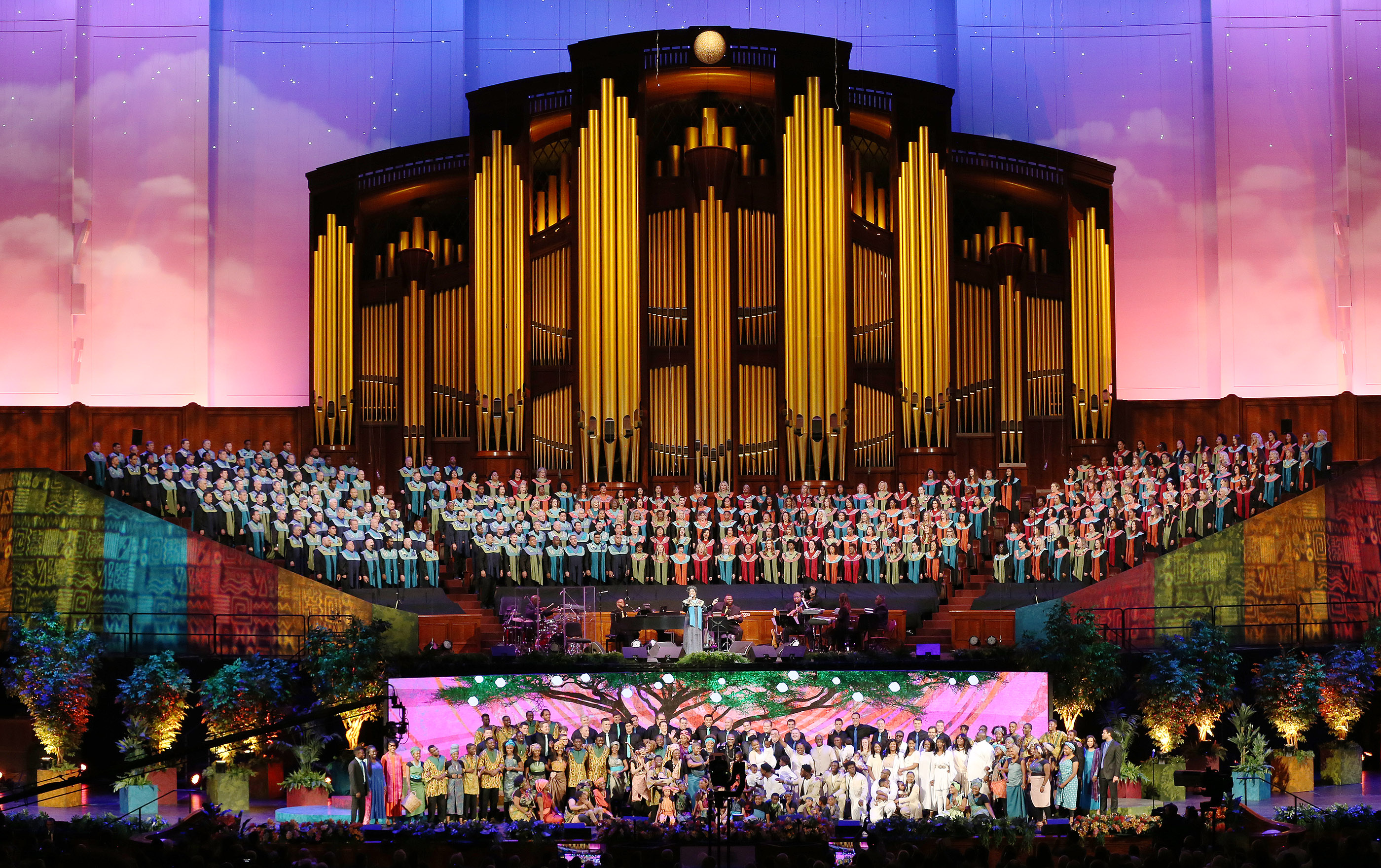 "Perfomers sing during ""Be One"" in Salt Lake City on Friday, June 1, 2018. The event celebrates the 40th anniversary of the 1978 revelation on the priesthood."