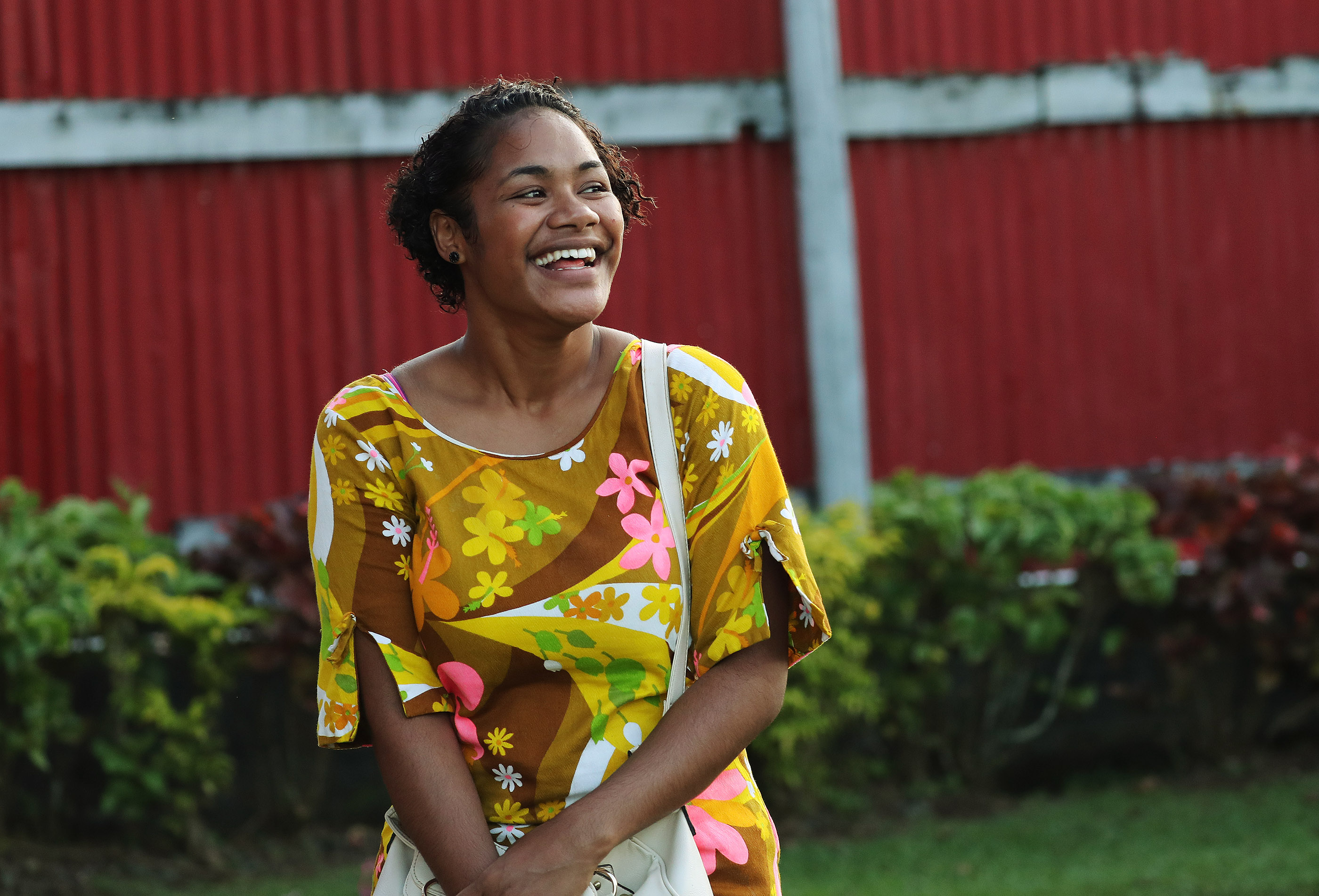 Mareca Tuibetua attends a devotional in Nausori, Fiji, on May 22, 2019.