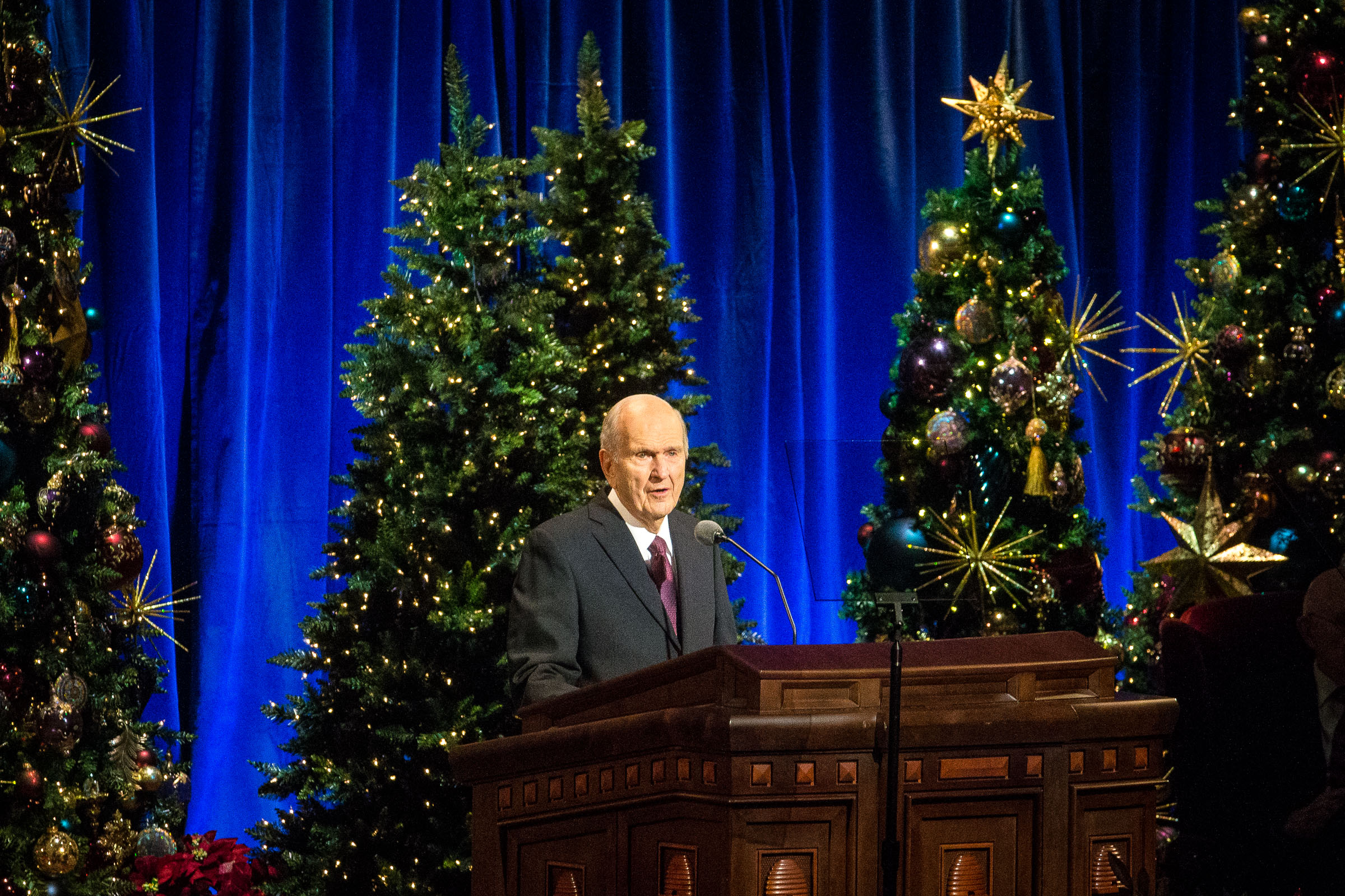 President Russell M. Nelson speaks during the First Presidency's Christmas Devotional in the Conference Center in Salt Lake City on Sunday, Dec. 2, 2018.