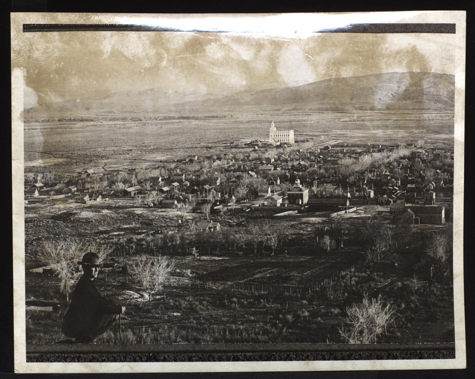 The St. George Utah Temple circa 1890.