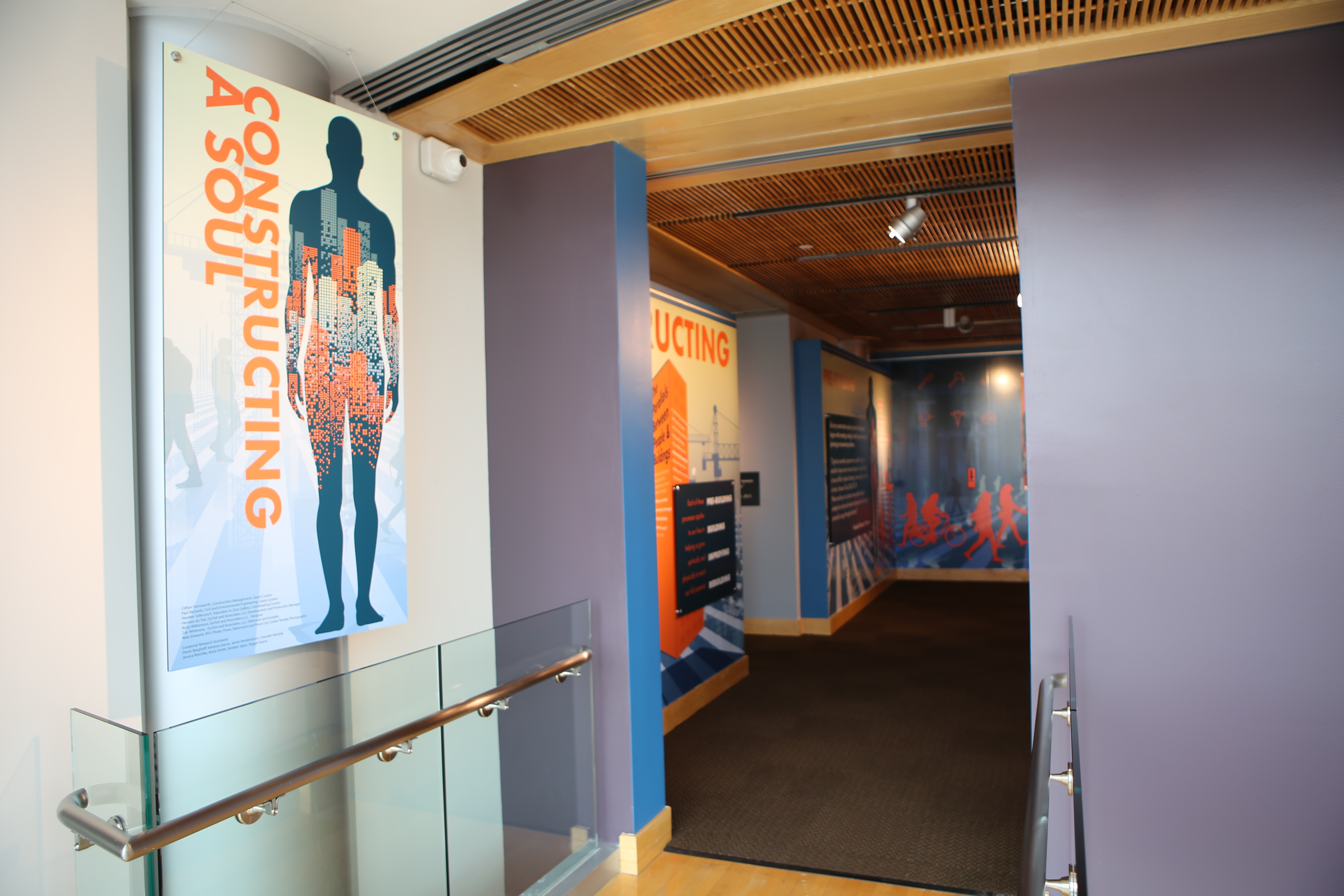 """Engineering professors from Brigham Young University were enlisted to help curate the """"Constructing a Soul"""" exhibition, which draws parallels between building and improving a structure -- and doing the same thing in one's own life."""