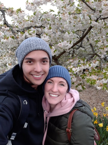 Matthew and Anna Hodge met while serving missions in Tokyo, Japan. Matthew has been a devoted supporter of his wife's military career, including her graduation from Army Ranger School.