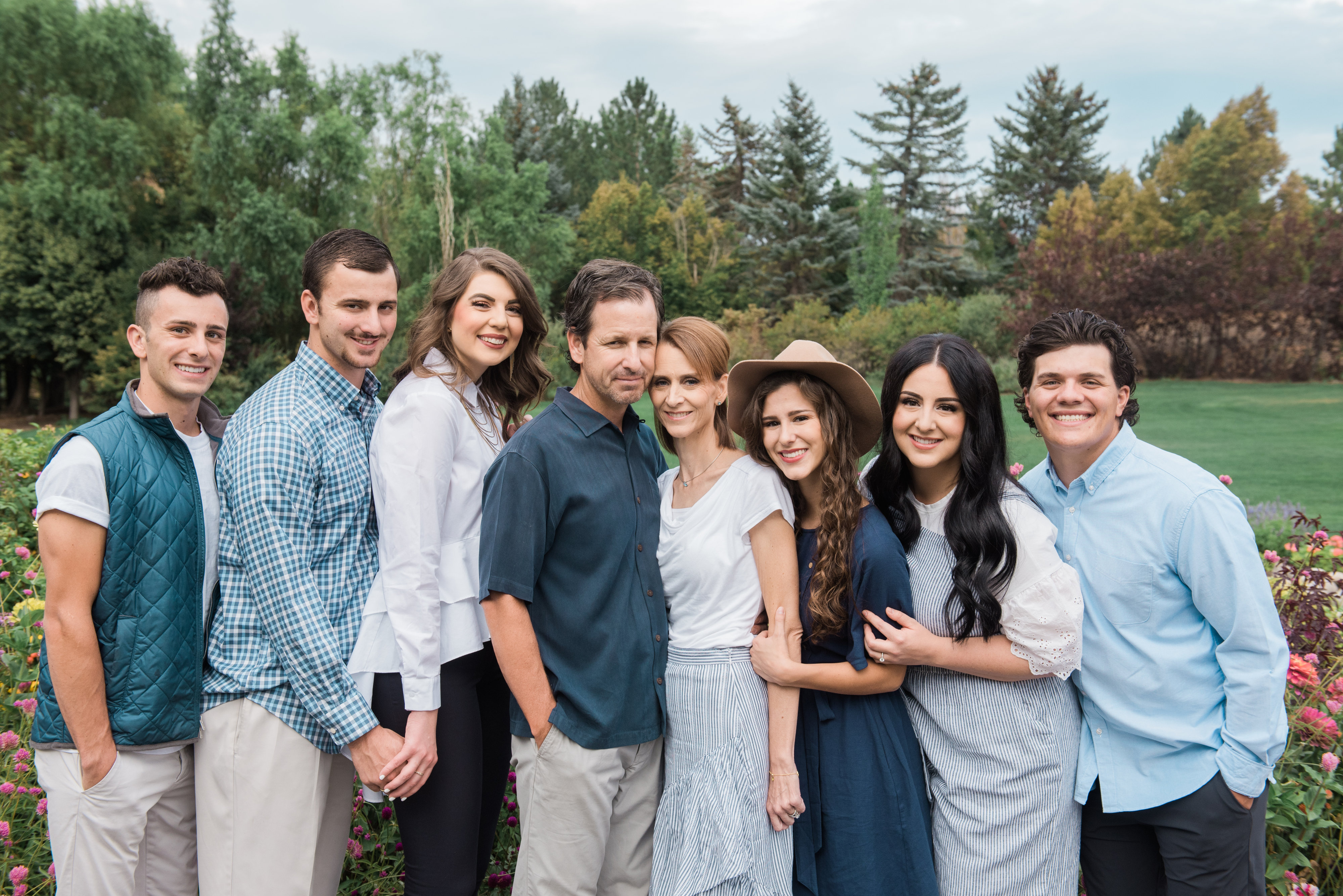 The Ferran family left to right: Parker Ferran, Bronson Ferran, Andrea Ferran, Troy Ferran, Annette Ferran, Alexa Ferran, Ashley Sylvester, Zachary Sylvester.