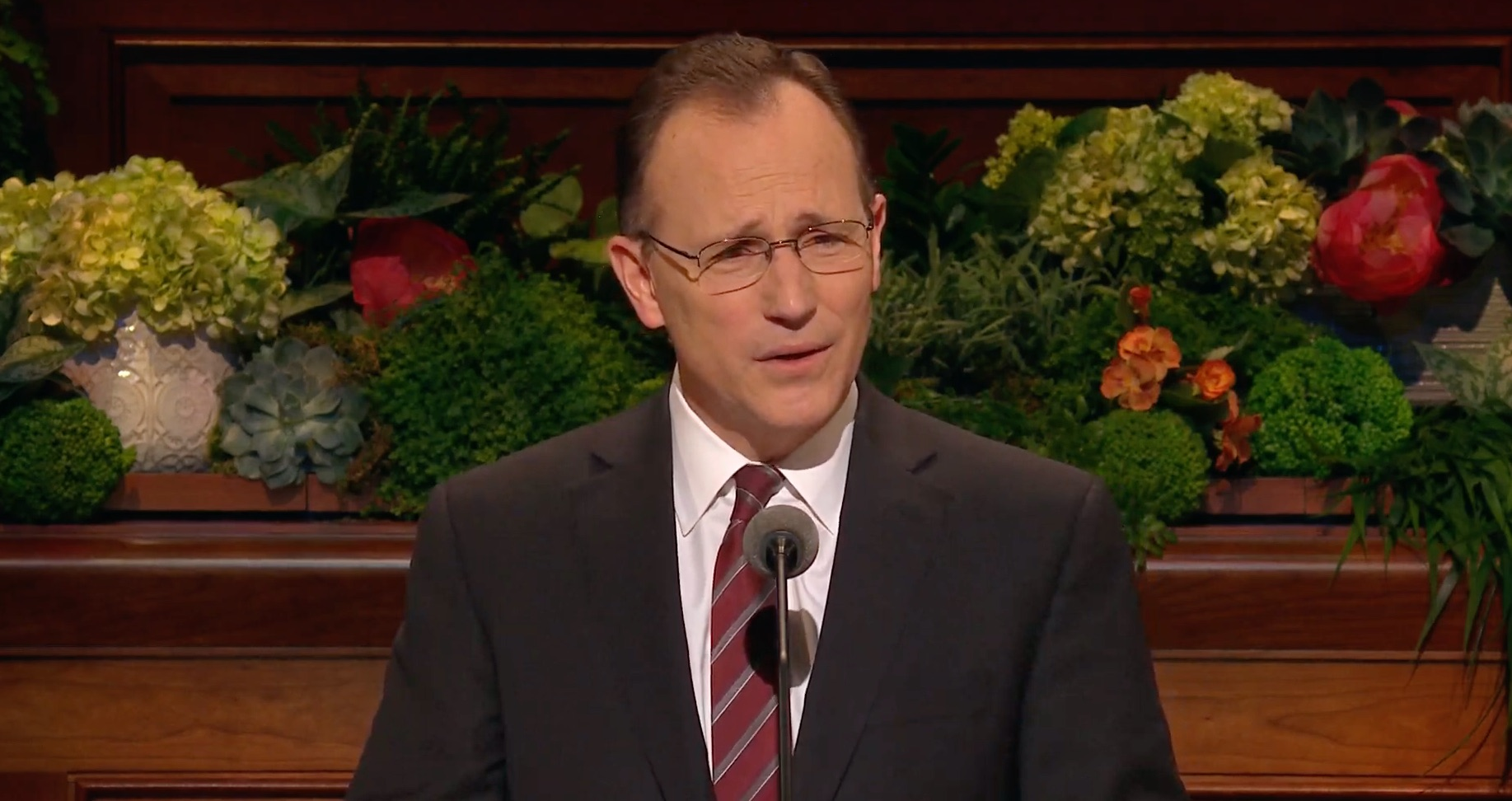 Elder Kyle S. McKay, a General Authority Seventy, gives his address during the Sunday afternoon session of the 189th Annual General Conference on April 7, 2019.