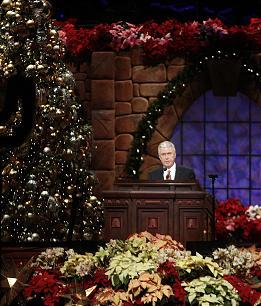 President Dieter F. Uchtdorf speaks during the annual First Presidency Devotional.
