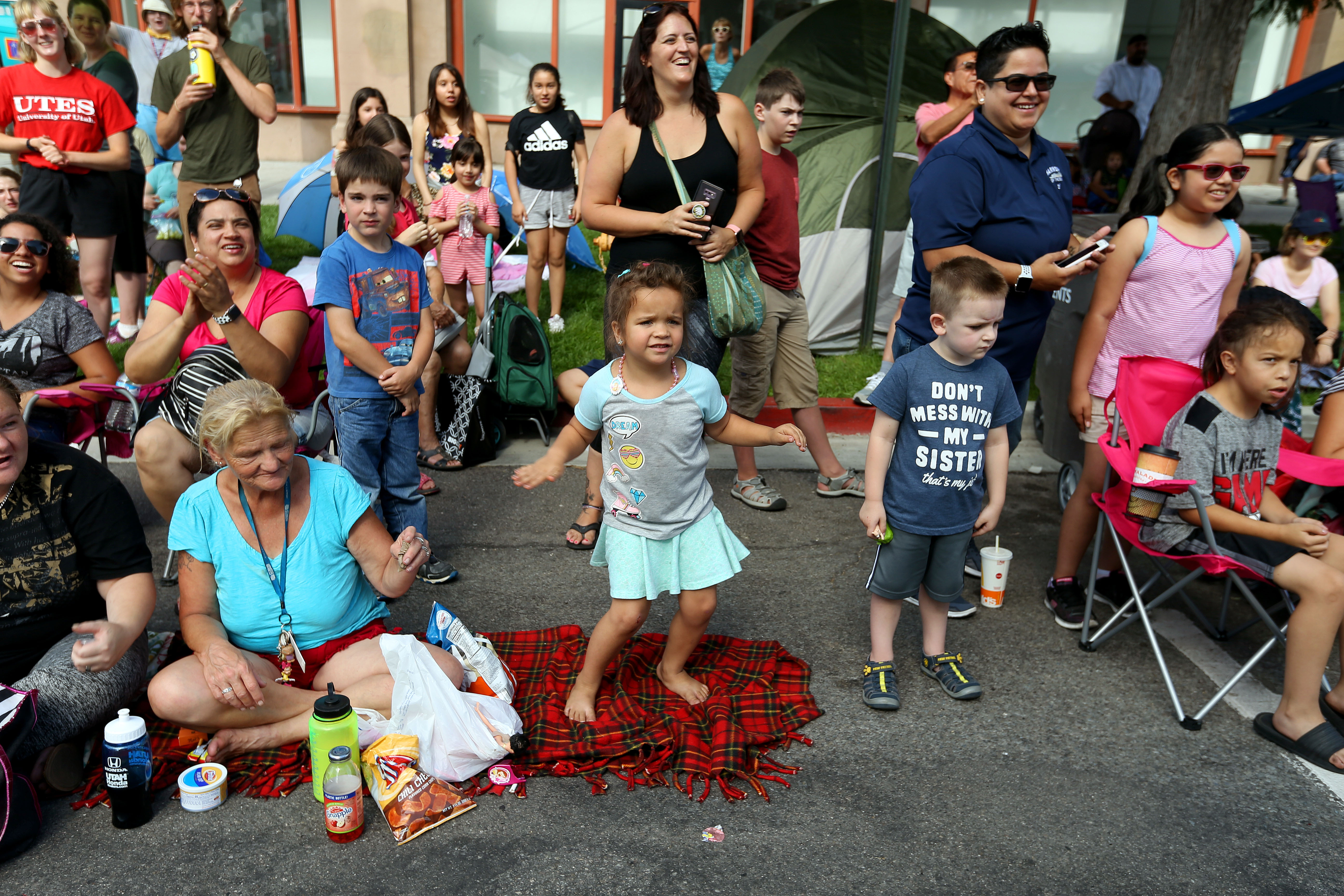 A crowd watches the Days of '47 Parade in Salt Lake City on Wednesday, July 24, 2019.