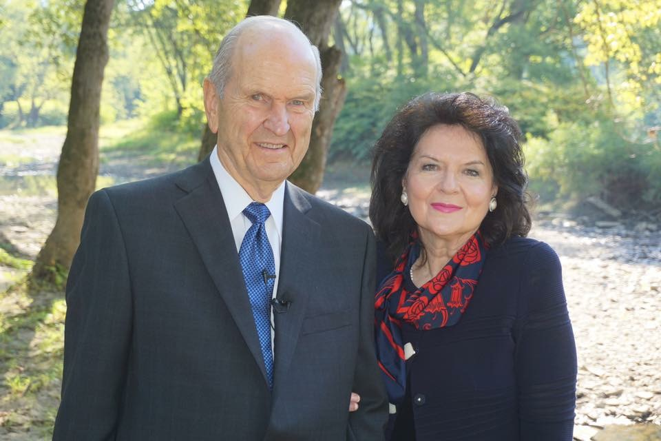 President Russell M. Nelson and Sister Wendy Watson Nelson in Pennsylvania at the dedication of the newly developed Priesthood Restoration Site in 2015.
