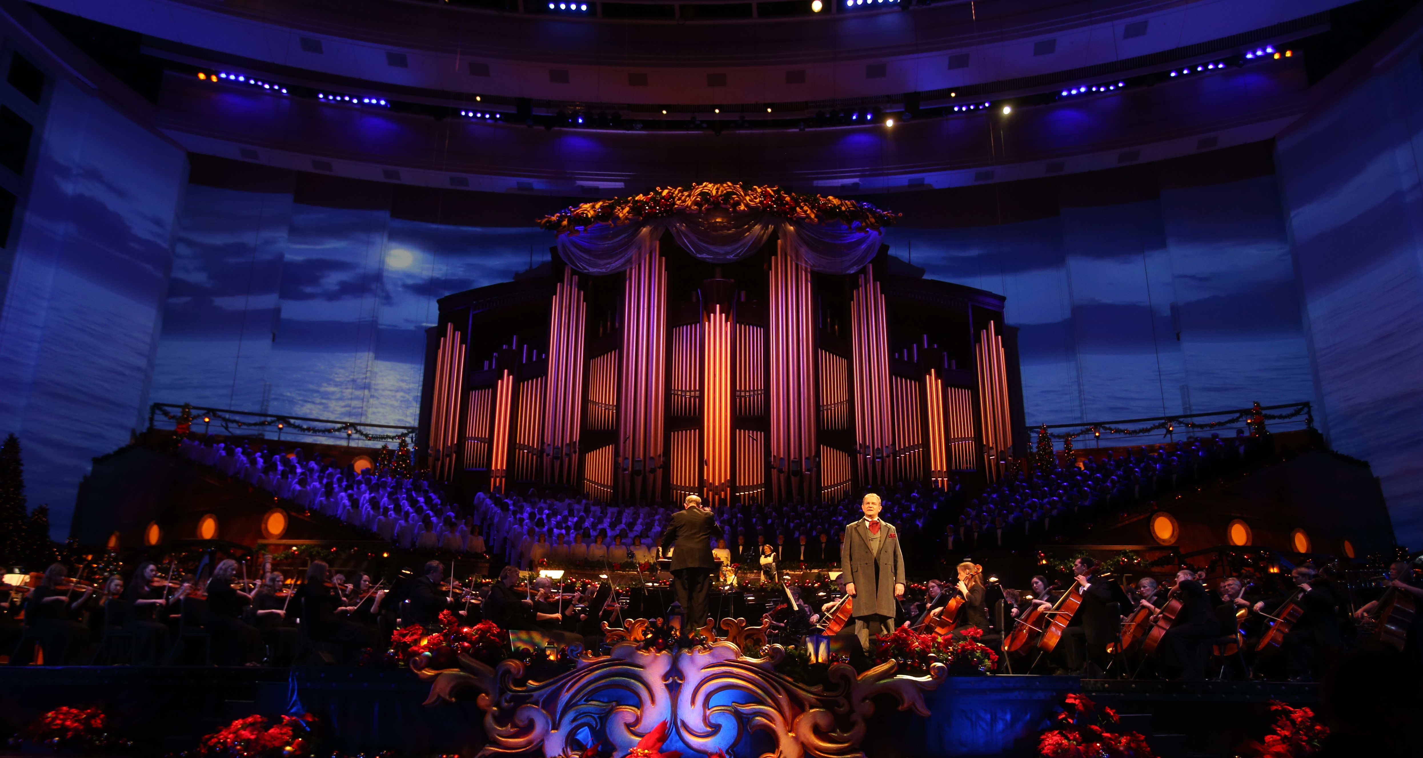 BYUtv holiday programming includes the 15th annual Christmas with the Mormon Tabernacle Choir starring Hugh Bonneville along with Sutton Foster.