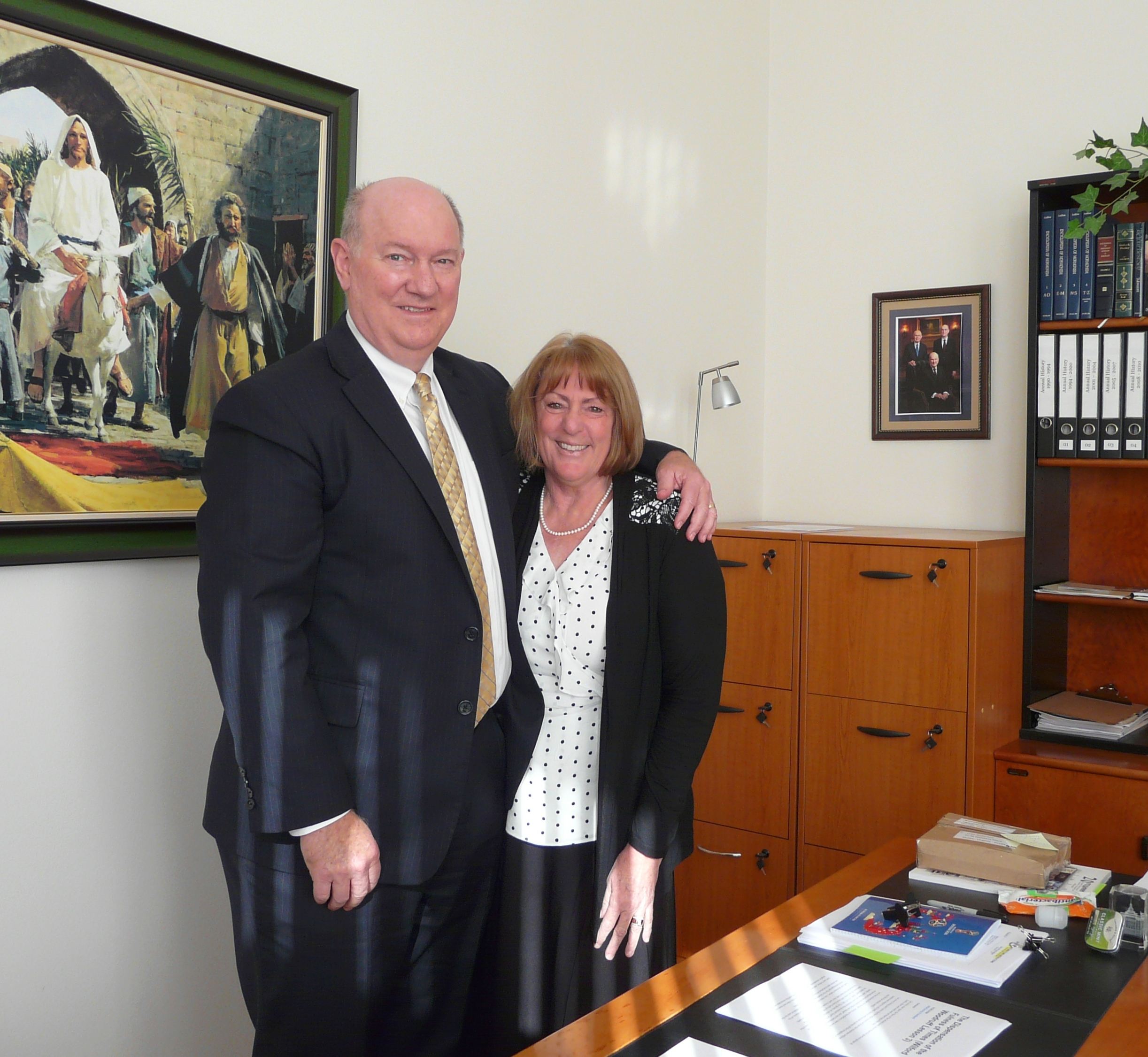President Stephen Davis and Sister Mary Davis oversee missionary work in Bulgaria and other countries in the Bulgaria-Central Eurasian Mission, employing the help of technology to span distances