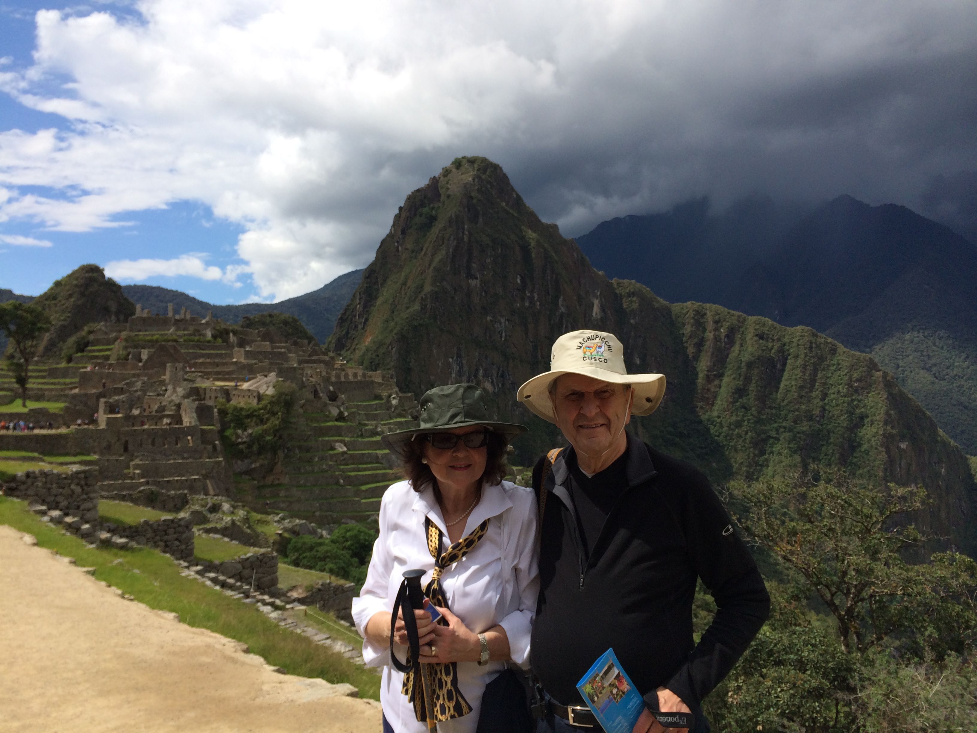 President Russell M. Nelson and his wife, Sister Wendy Watson Nelson, at Machu Picchu.