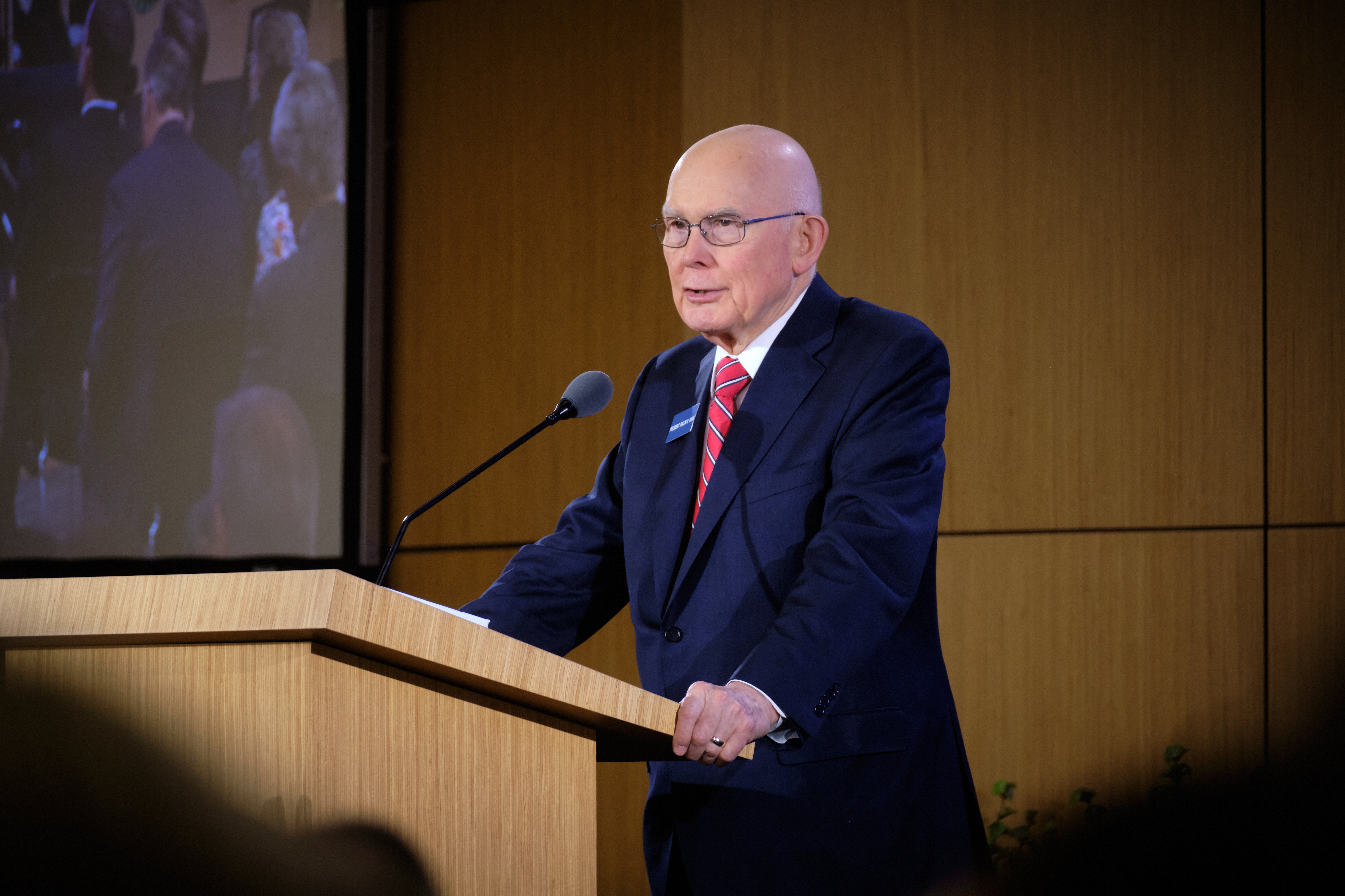 President Dallin H. Oaks, first counselor in the First Presidency, addresses new mission presidents and their companions Monday, June 24, at the New Mission Leaderships Seminar held at the Provo Missionary Training Center in Provo, Utah.