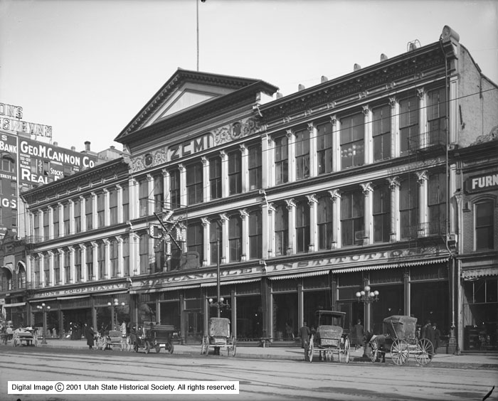 The original ZCMI storefront on Salt Lake City's Main Street is pictured on Feb. 5, 1910.