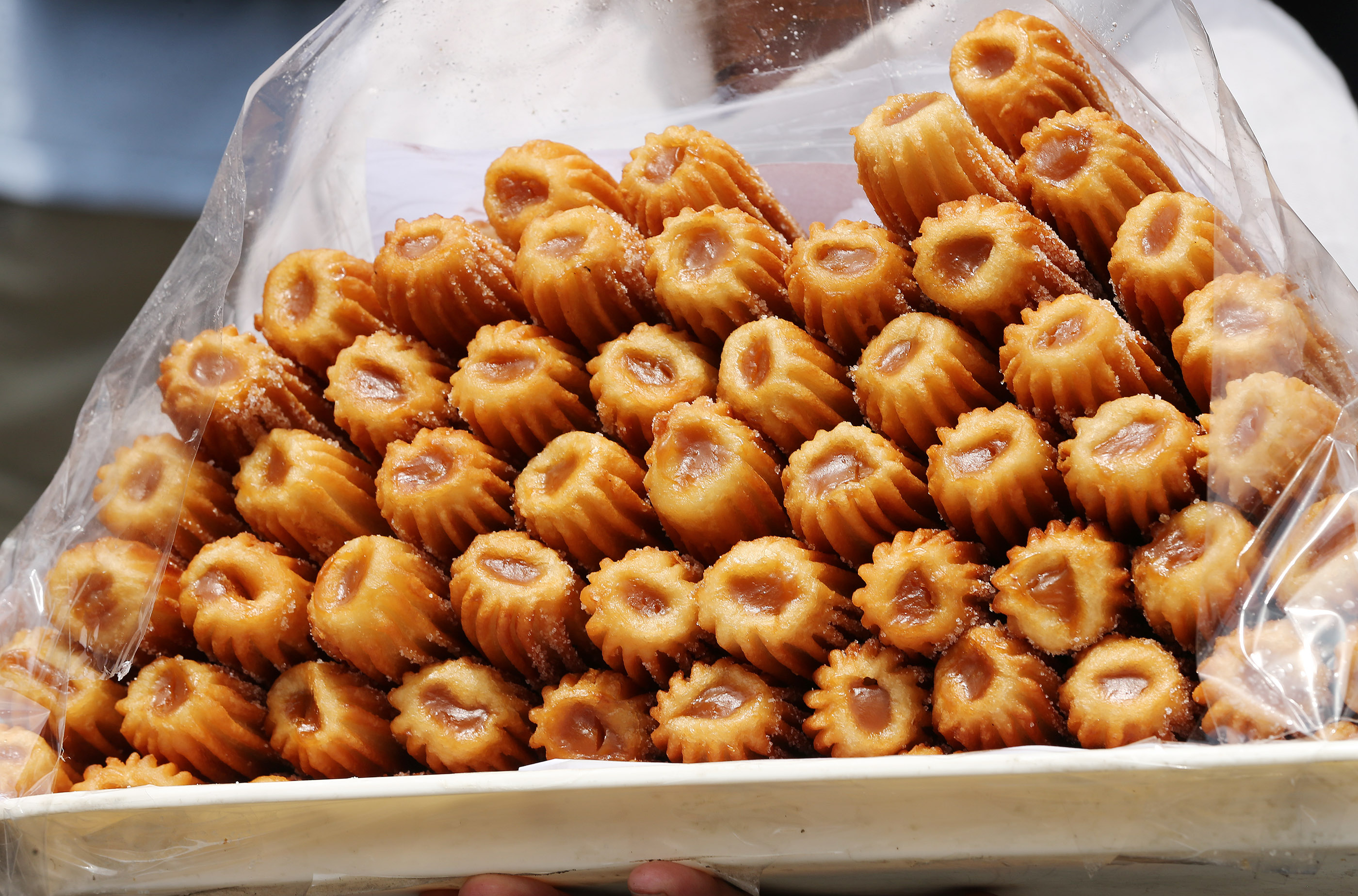 Churros are sold at Plaza Mayor in downtown Lima, Peru, on Oct. 21, 2018.