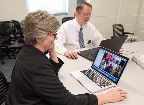 Church service missionaries help facilitate the PathwayConnect virtual weekly gatherings.