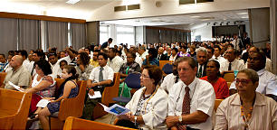 Some 800 members gather in Noumea, New Caledonia, where Elder James J. Hamula created a stake May 27.