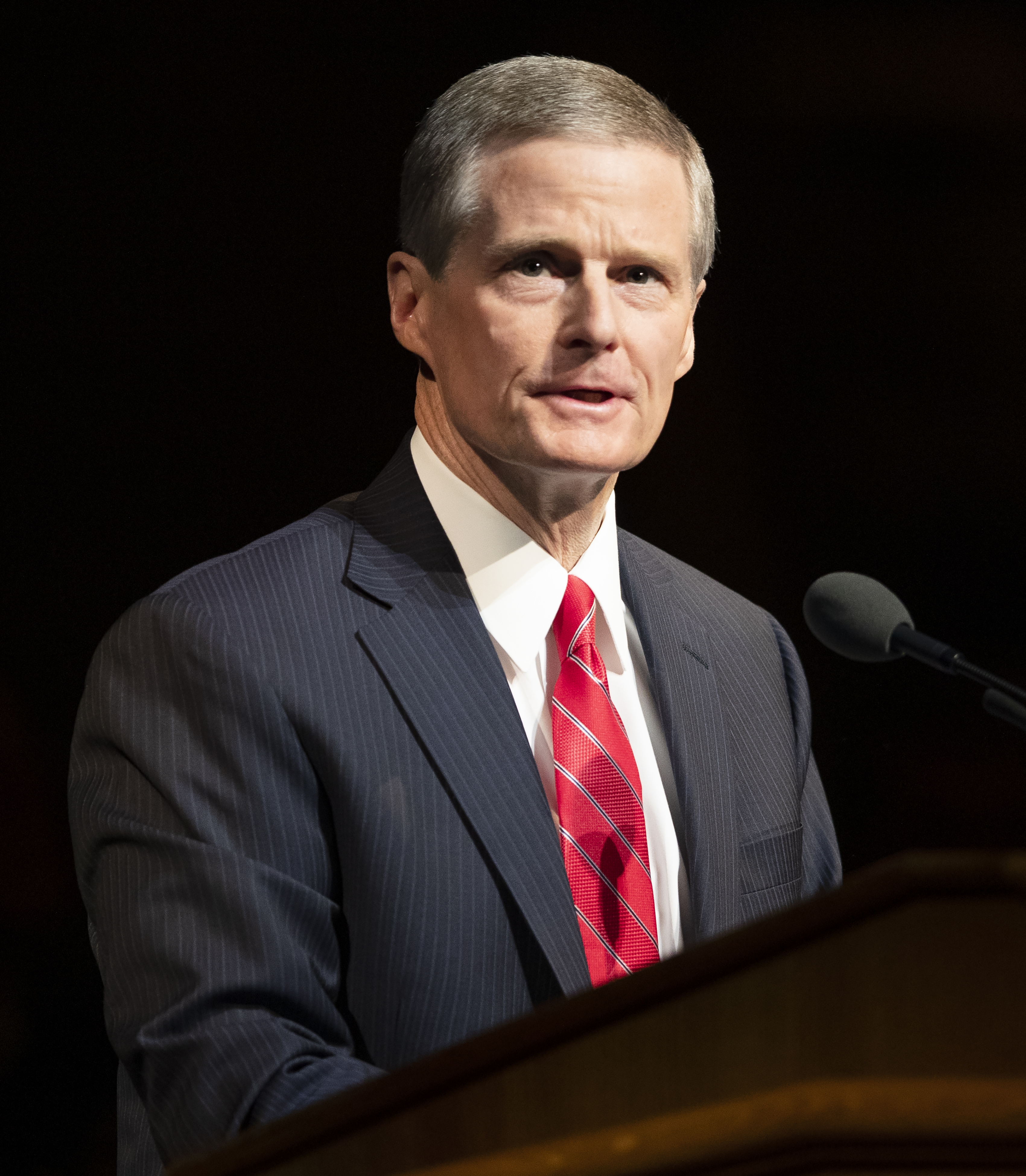 Elder David A. Bednar of the Quorum of the Twelve Apostlesat the campus devotional in the Marriott Center at BYU in Provo on Tuesday, Dec. 4, 2018. Elder Bednar was accompanied by his wife, Sister Susan Bednar.