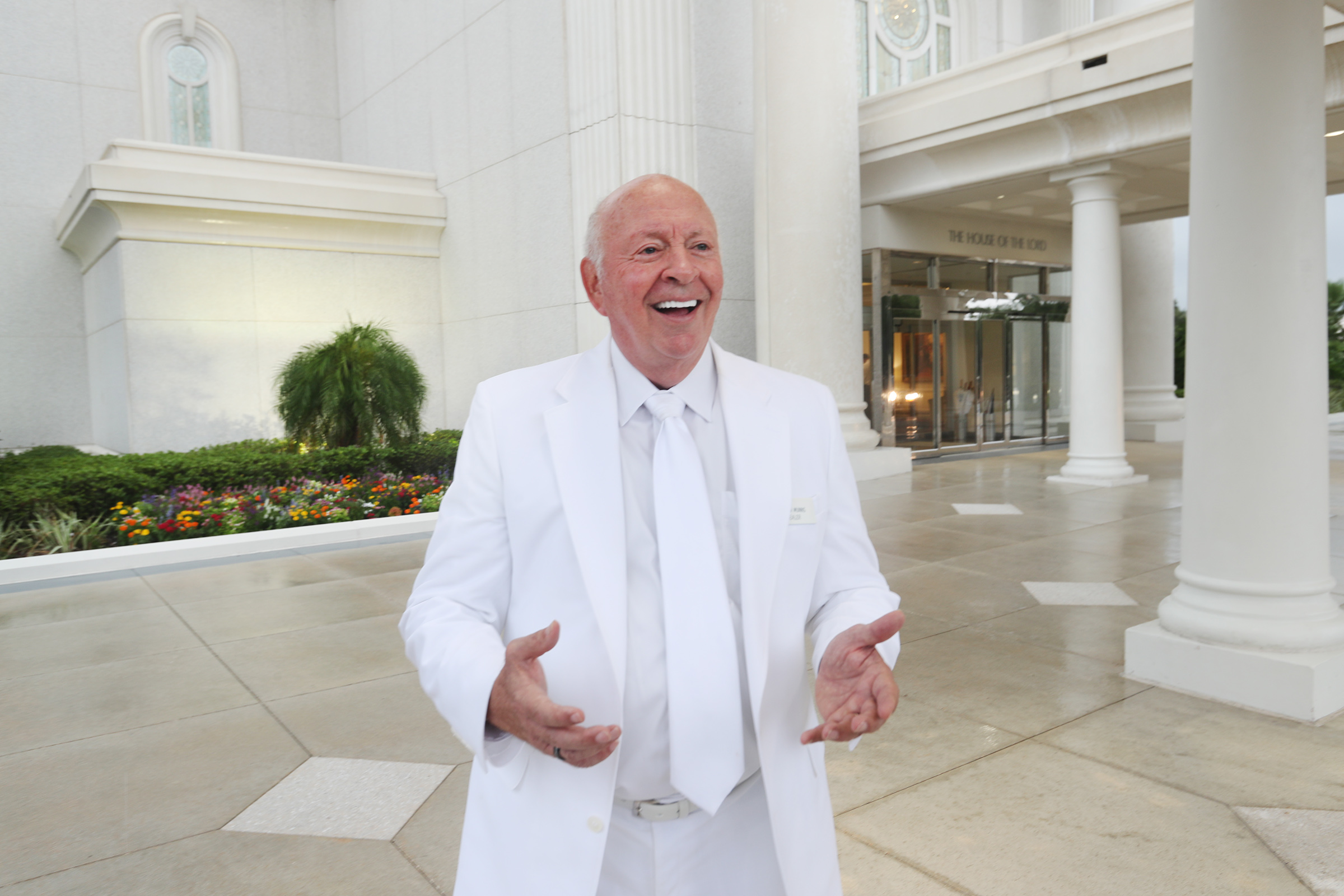 Rulon Munns, an Orlando temple sealer and patriarch talks on Saturday, June 8, 2019 about what it means to have President Russell M. Nelson visit the Orlando area for a devotional.