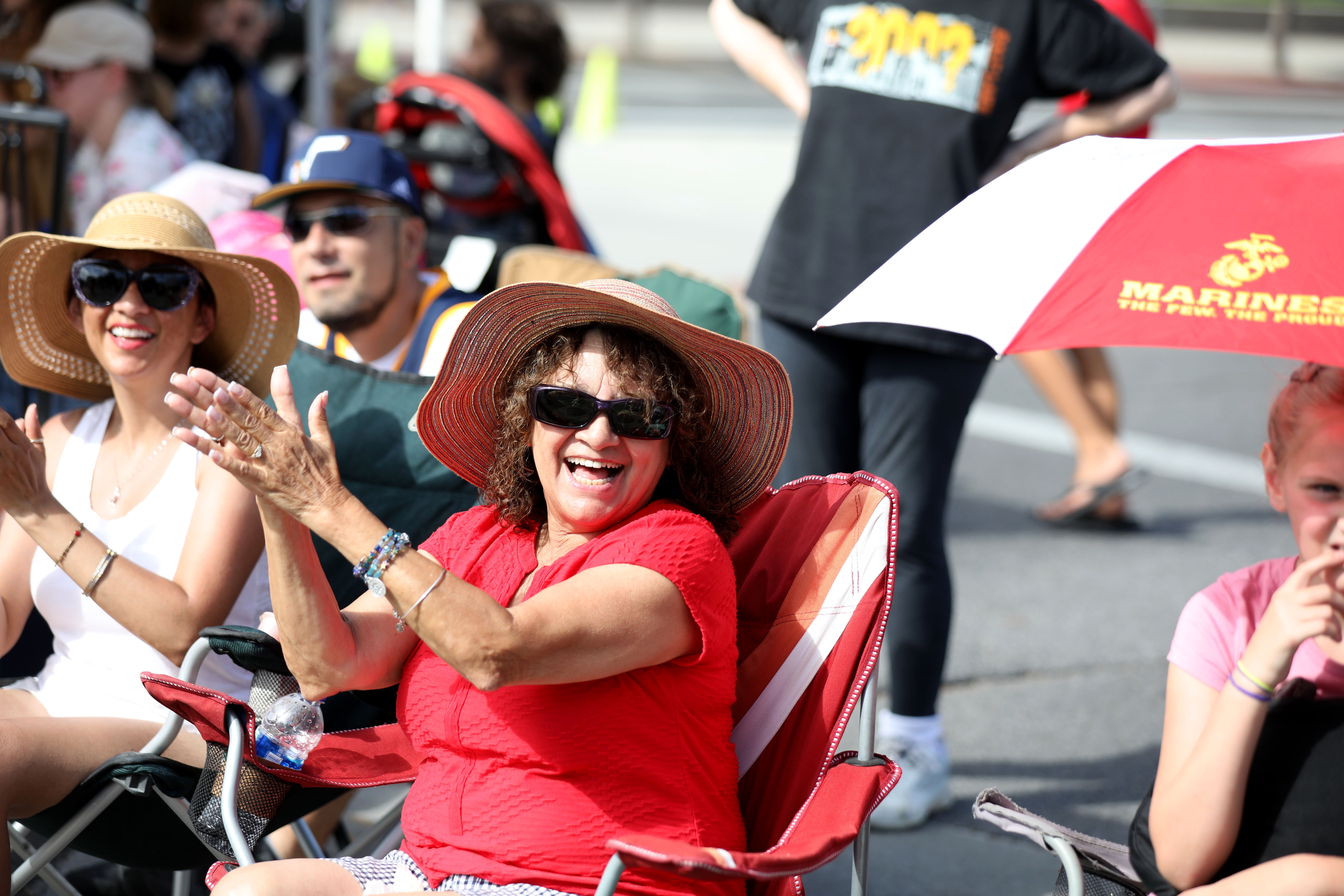 The crowd applauds during the Days of '47 Parade in Salt Lake City on Wednesday, July 24, 2019.