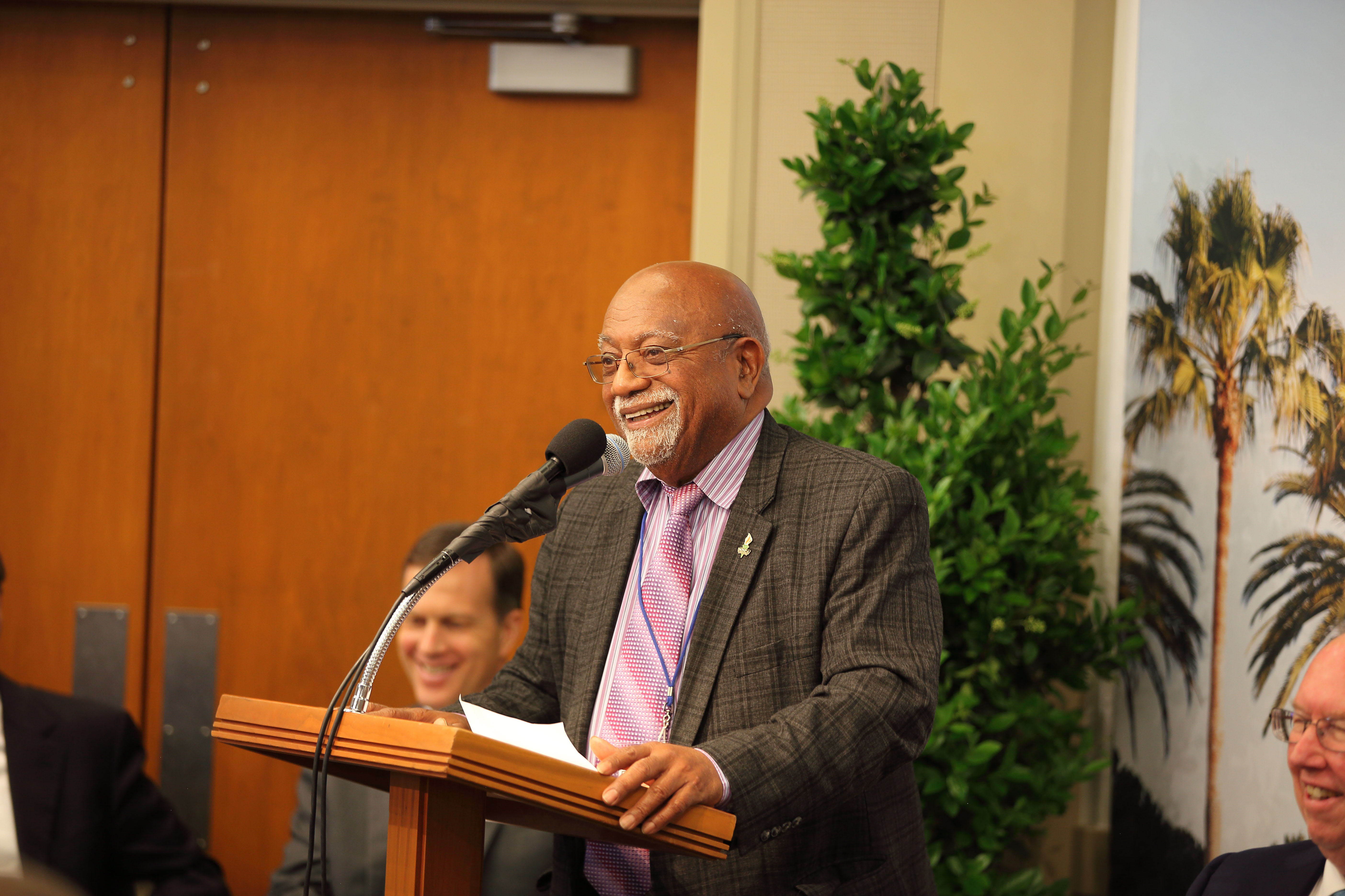 A friend of the Church for many years, Paul Cobb is the publisher of the Oakland Post. He also gave remarks during the May 6, 2019, news conference on the Oakland California Temple.