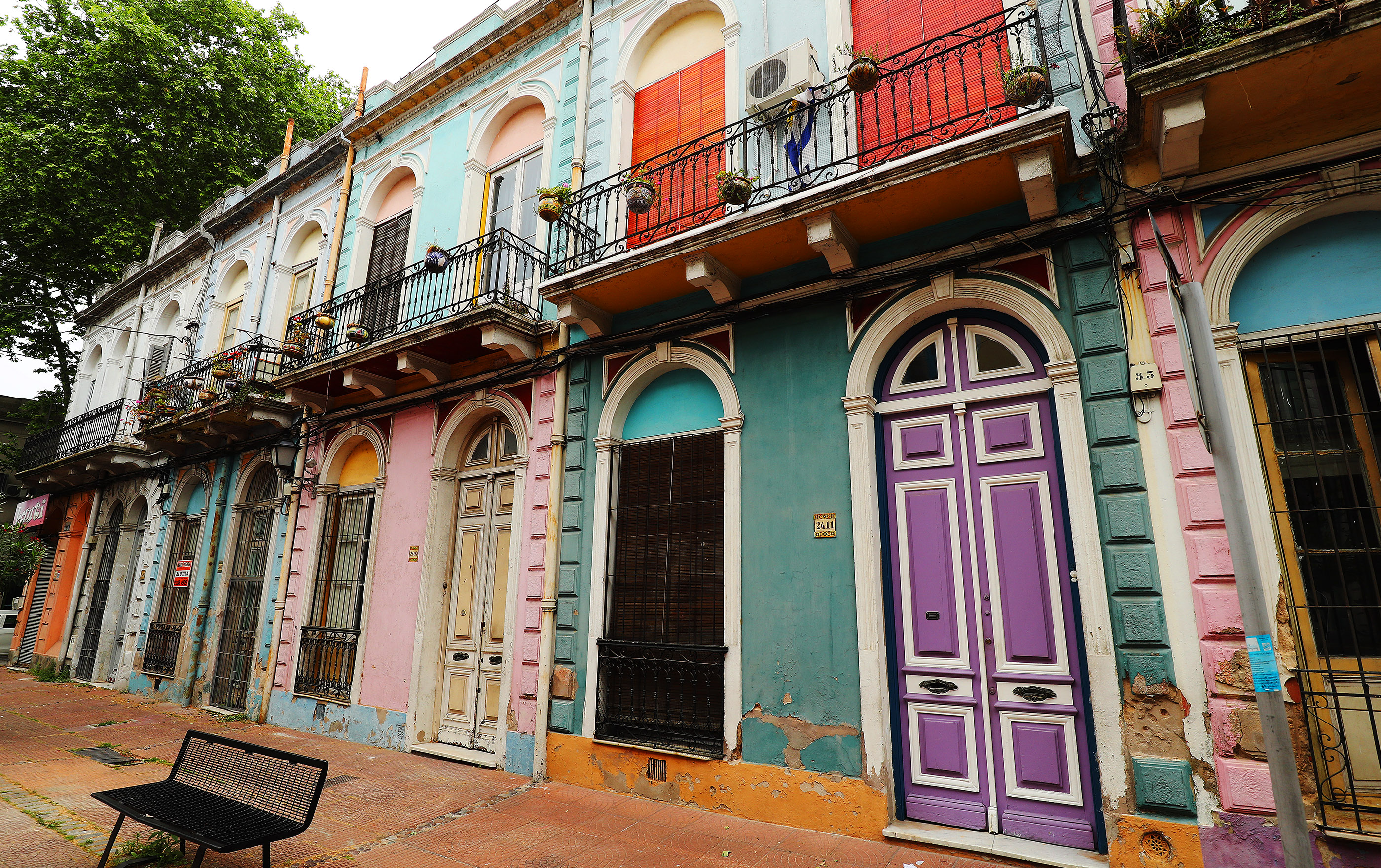 Barrio Reus has colorful homes in Montevideo, Uruguay, on Oct. 24, 2018.