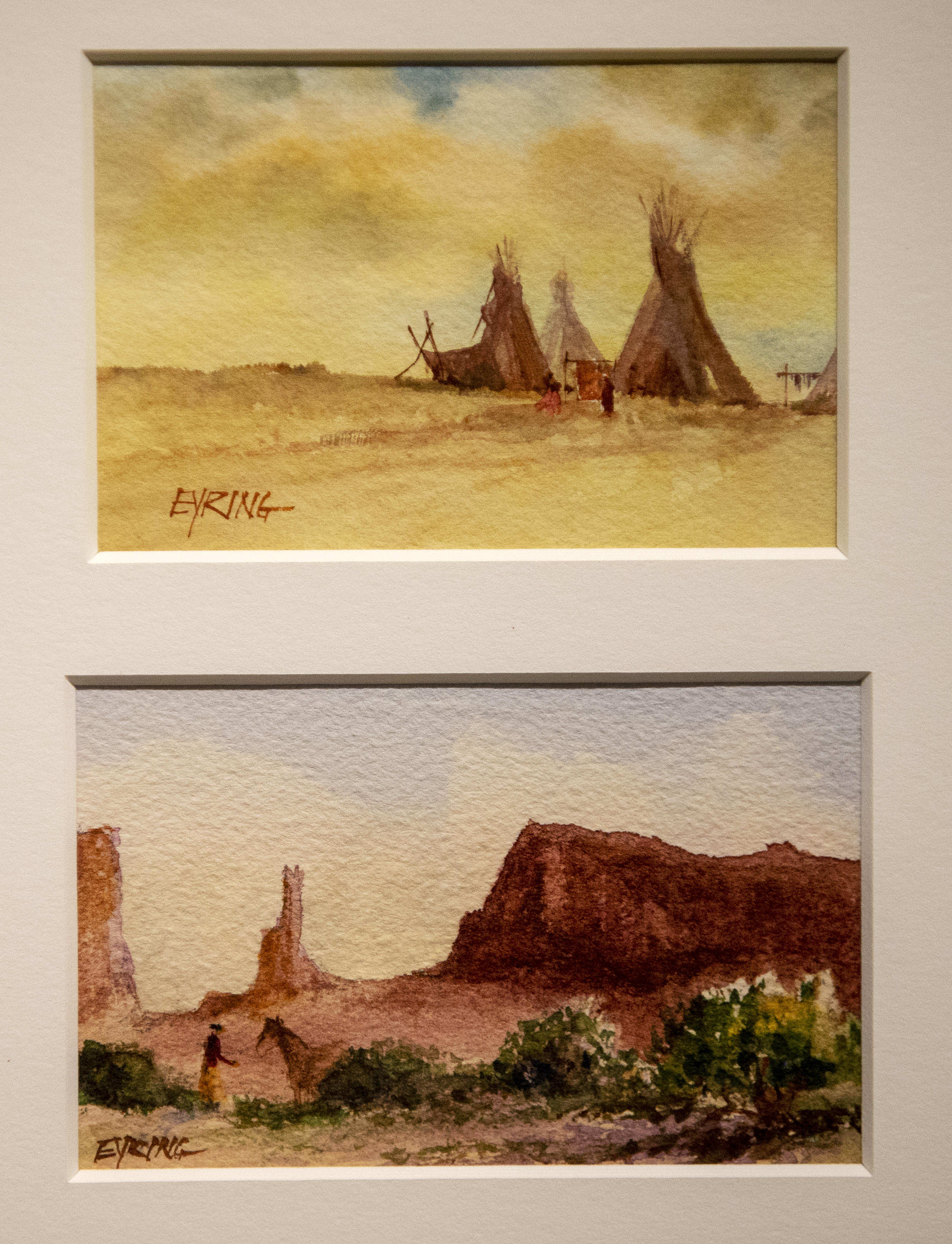 Watercolor paintings by President Henry B. Eyring are on display in a special exhibit at the Church History Museum in Salt Lake City.