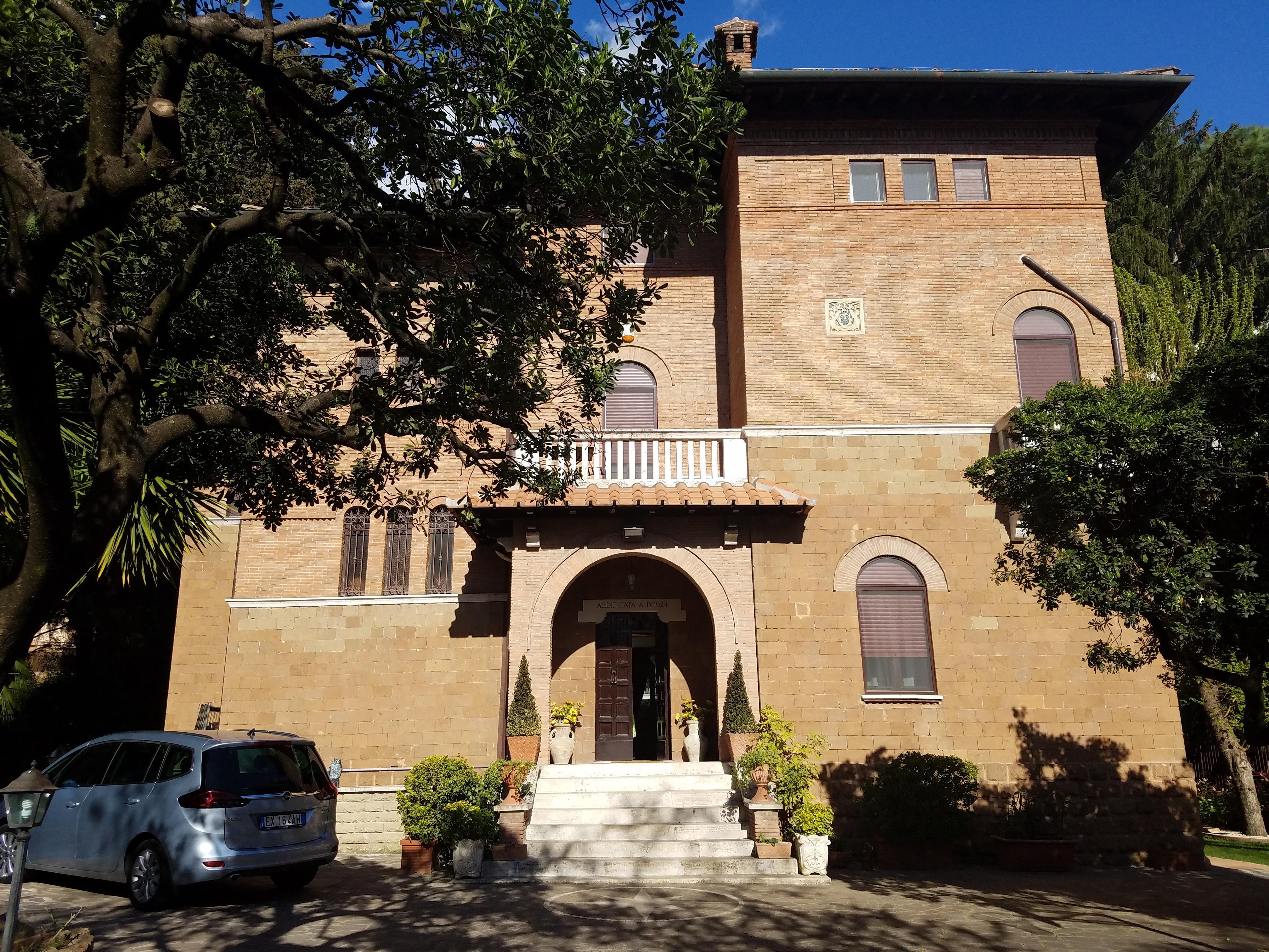 The Italy Rome Mission home, a 1920s villa on Via Cimone in northeastern Rome.