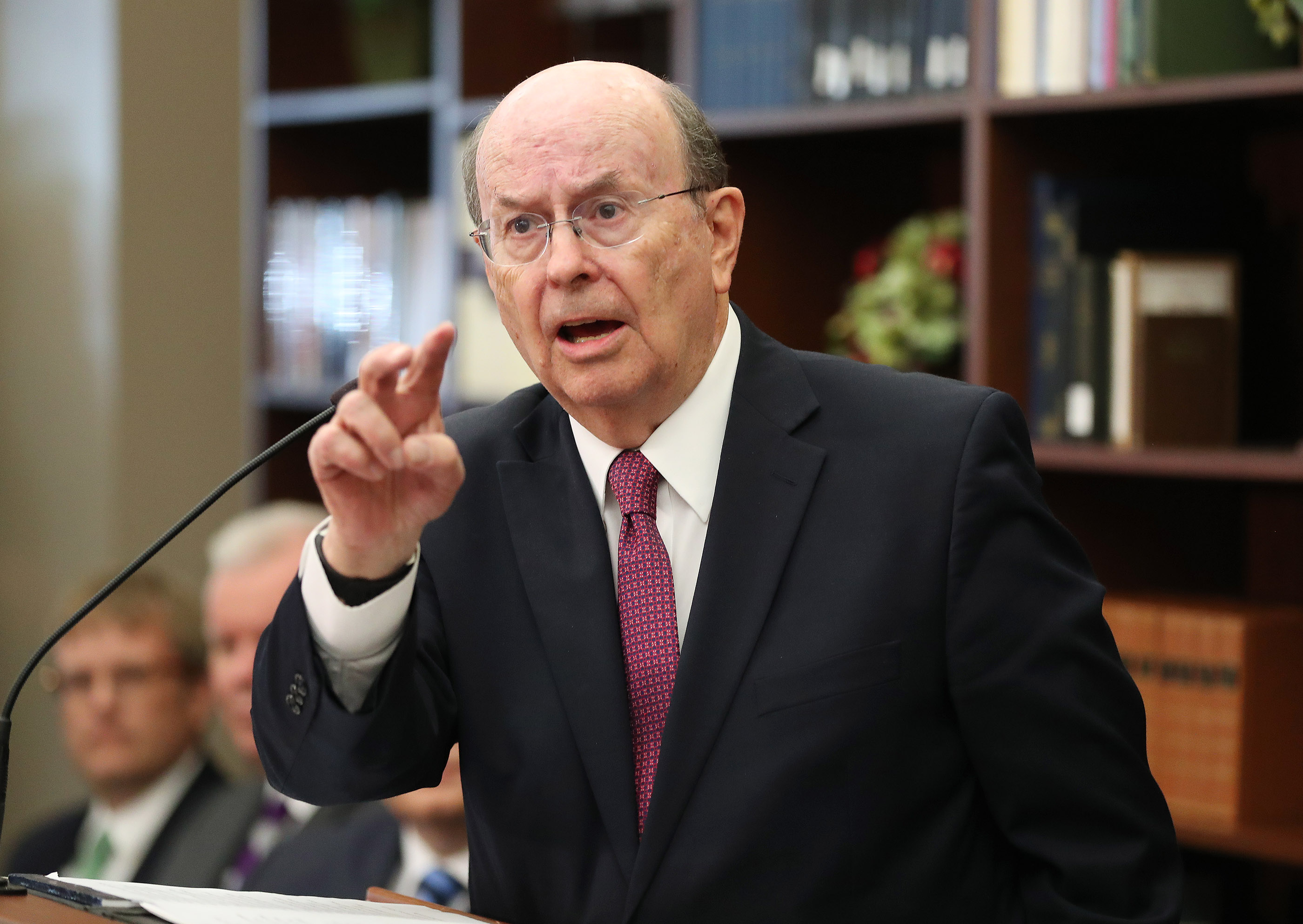 "Elder Quentin L. Cook of the Quorum of the Twelve Apostles speaks during a press conference announcing the book, ""Saints: The Story of the Church of Jesus Christ in the Latter Days,"" in Salt Lake City on Tuesday, Sept. 4, 2018."