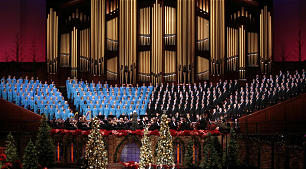 Mack Wilberg conducts the Mormon Tabernacle Choir during the annual First Presidency Devotional.