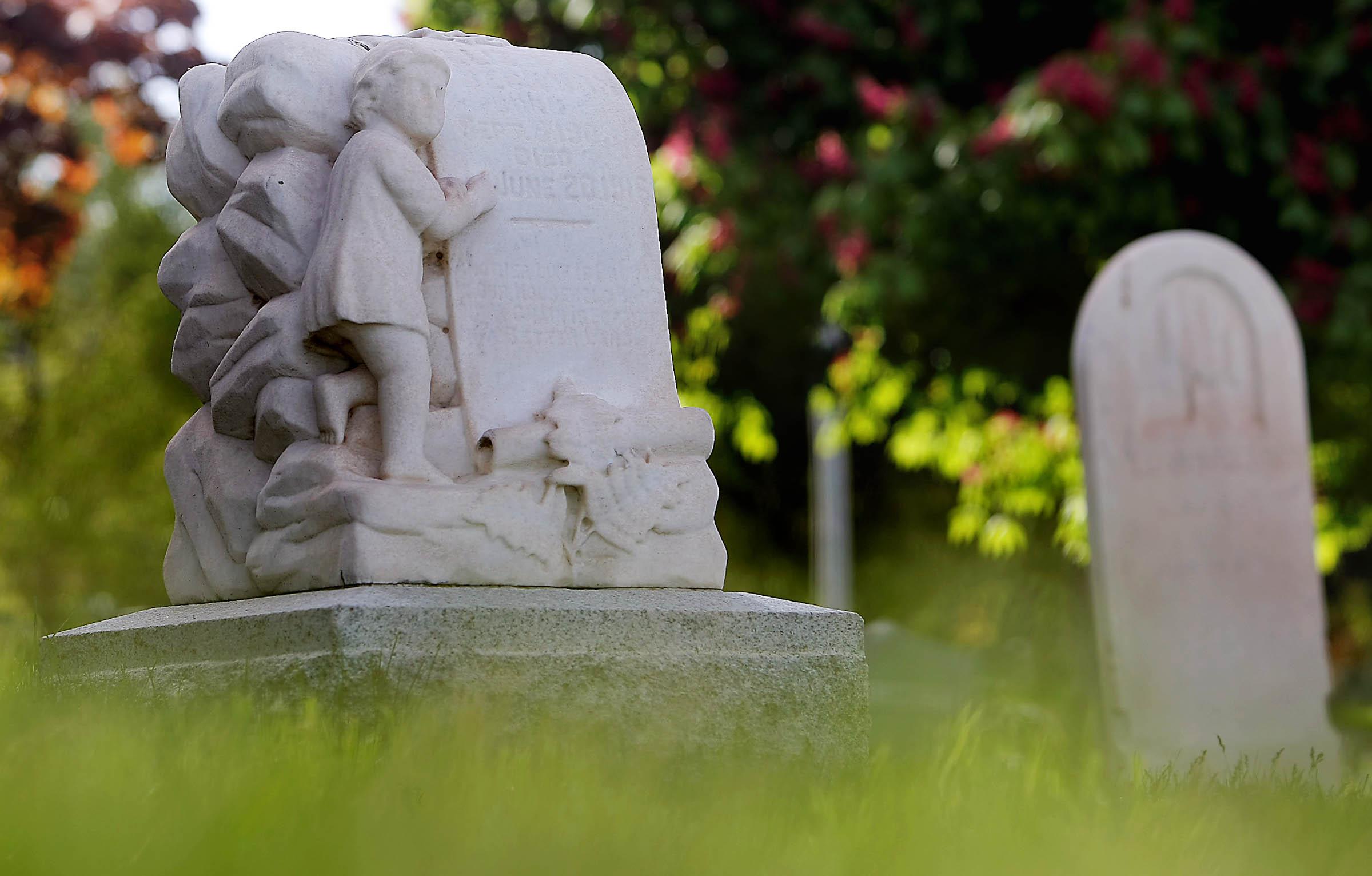 A local cemetery in Salt Lake City, Utah.