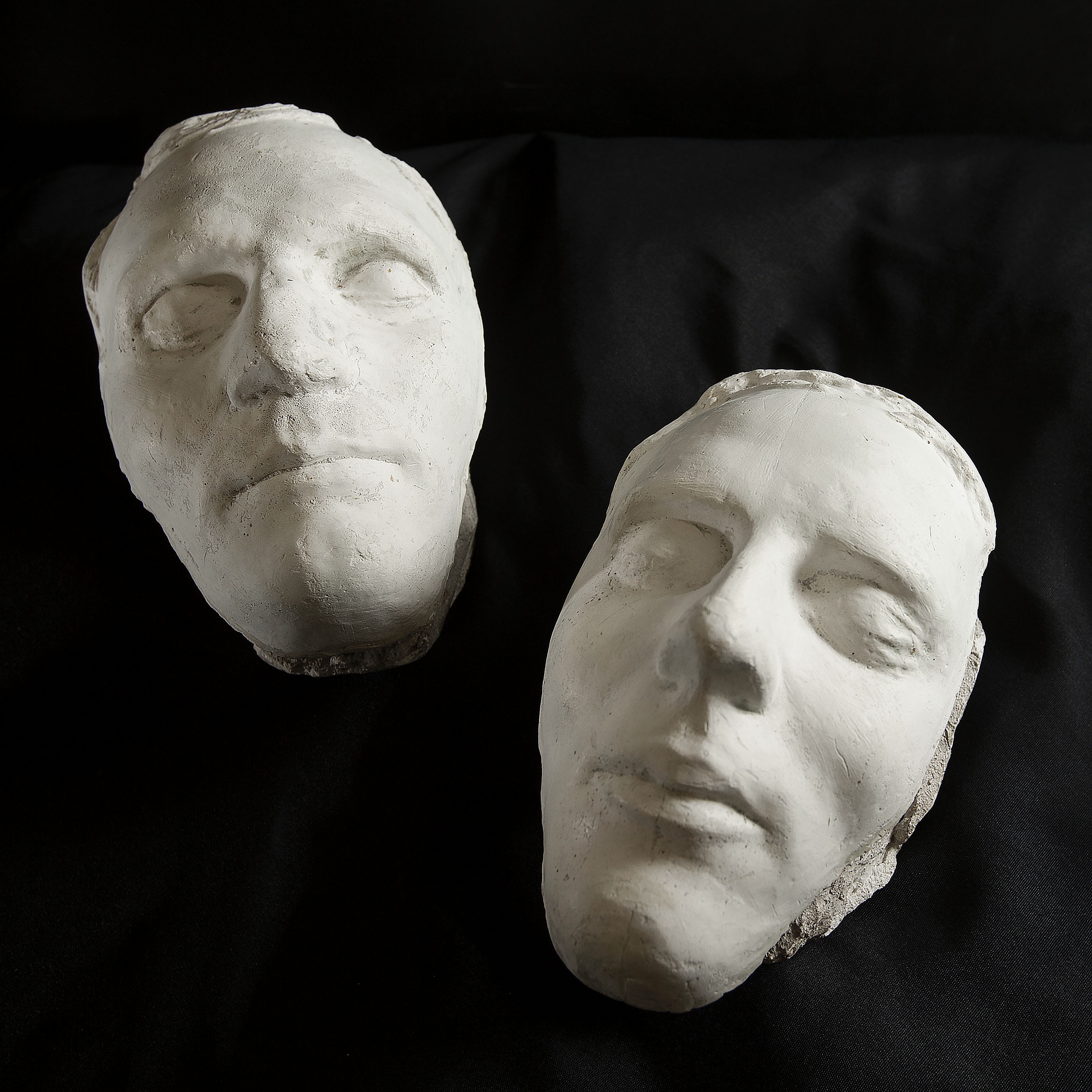 The Pedestal death masks of Hyrum and Joseph Smith are photographed at the Church History Museum in Salt Lake City on Thursday, June 13, 2019.