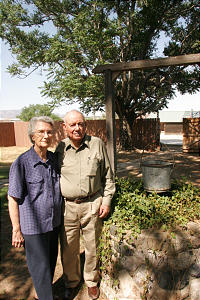 Karl and Thelma Fenn have spent much of their life in Pomerene, Ariz. -- carrying on a pioneer legacy in the town that began in 1910. Early Latter-day Saint settlers, like Brother Fenn's parents, Alvah and Carmen Fenn, planted fields, dug wells and built homes and other structures, including the decorative rock well pictured on the cover.