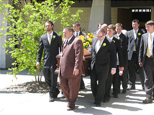 Funeral of Elder Jack H. Goaslind Jr. on May 2, 2011.