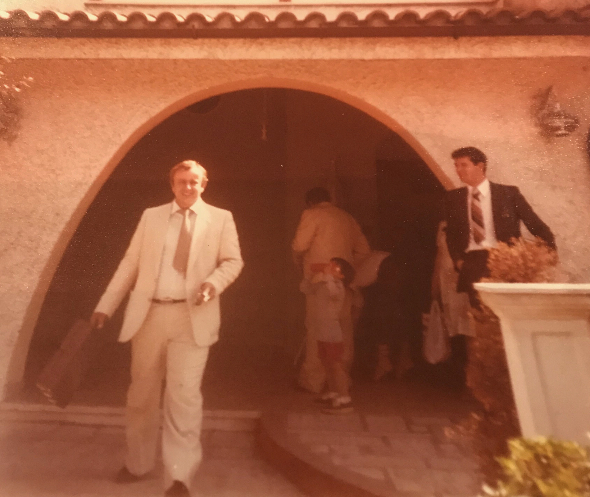 Left, Roberto Deni served as a branch president in Rome, Italy, about 40 years ago.