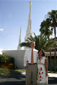 Zachary and Stephanie Hoffman are among young members with roots in Las Vegas who receive their endowments in the Las Vegas Nevada Temple.